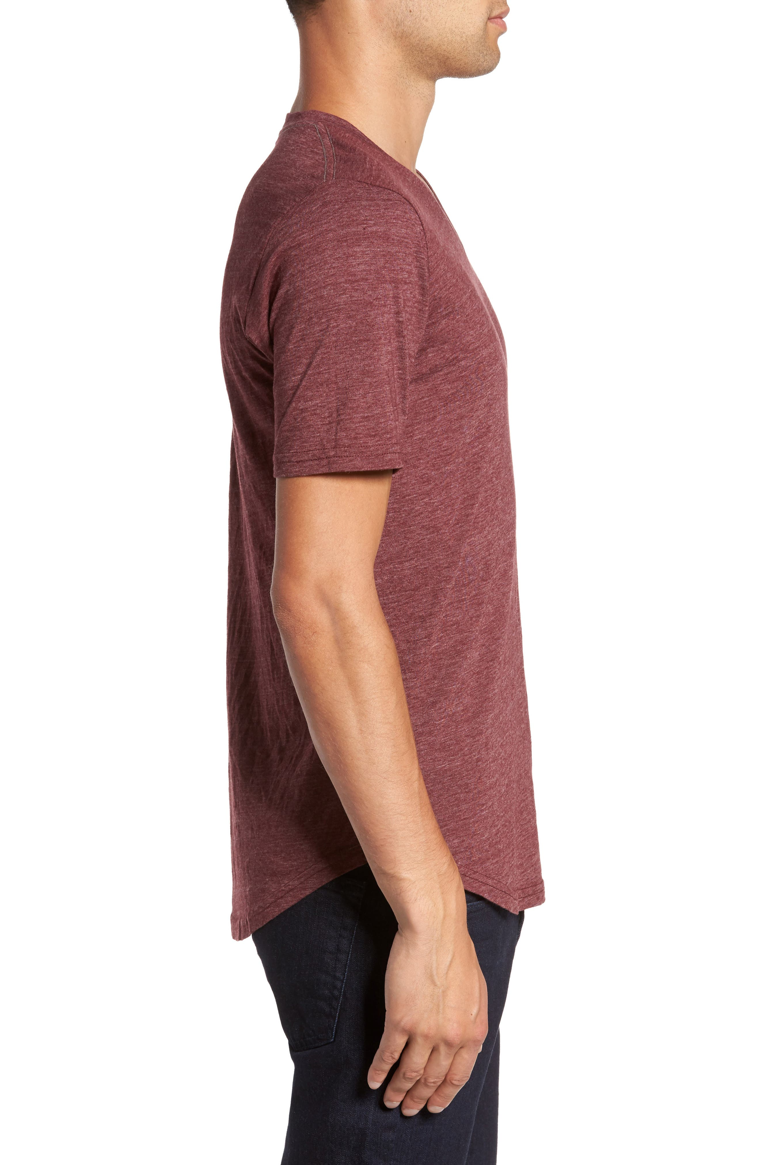 Scallop Triblend V-Neck T-Shirt,                             Alternate thumbnail 69, color,