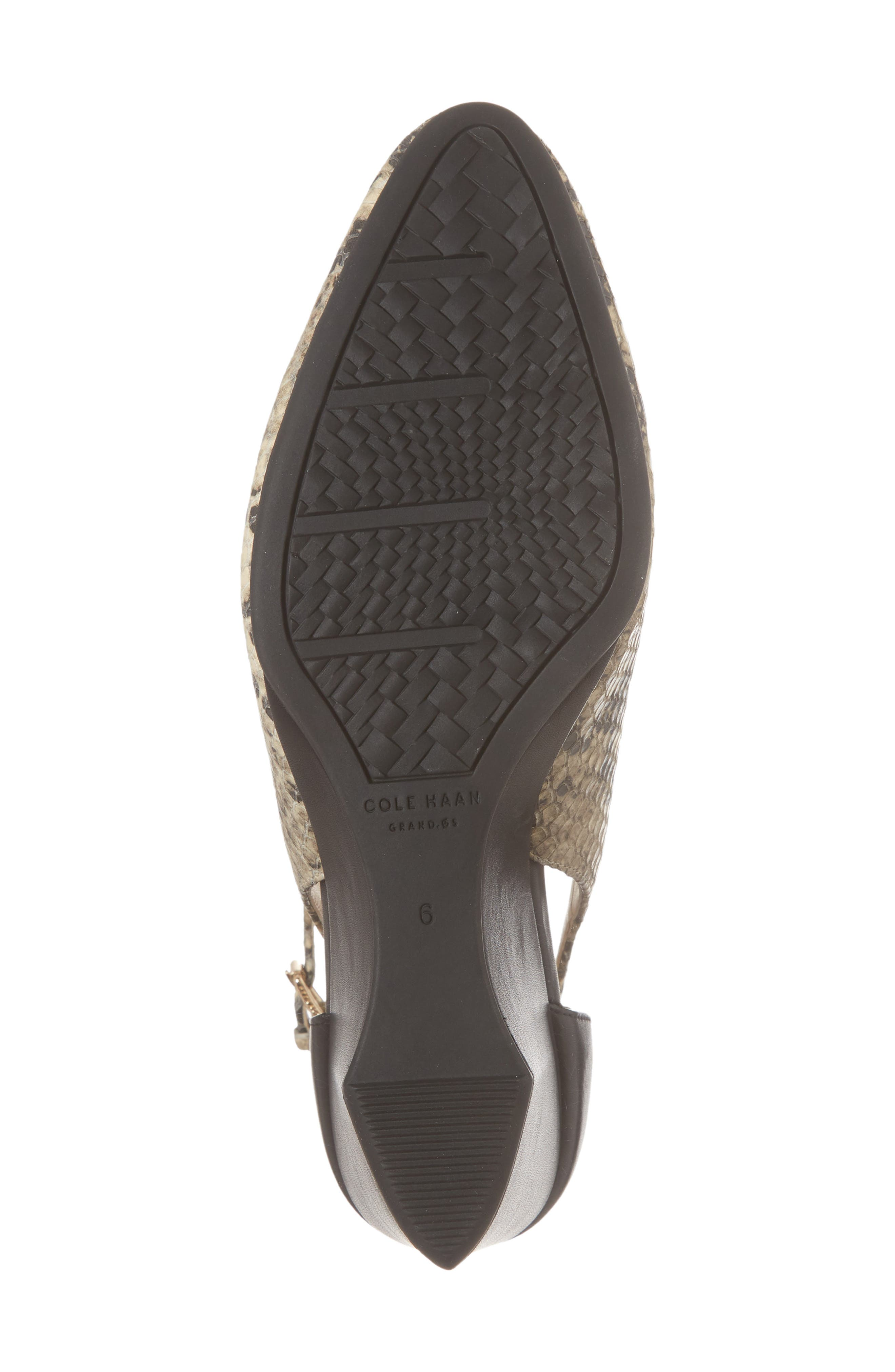 Lacey Cutout Wedge Pump,                             Alternate thumbnail 6, color,                             SNAKE PRINT LEATHER