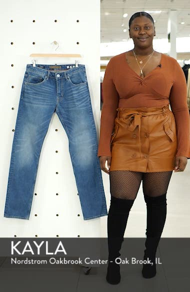 Slim Straight Leg Jeans, sales video thumbnail