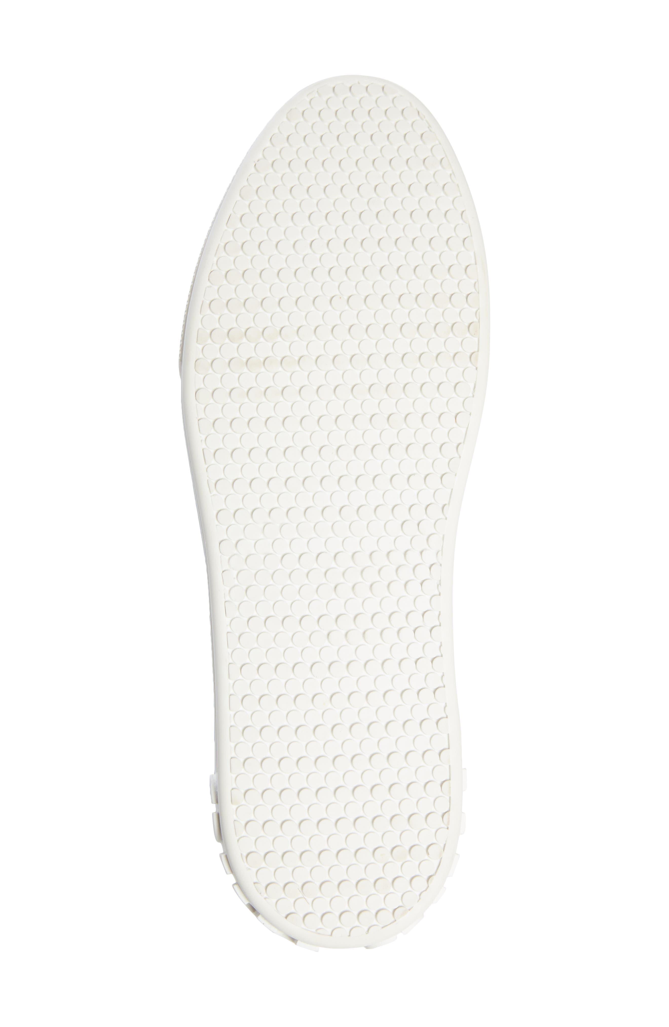 Crystal Cap Toe Sneaker,                             Alternate thumbnail 6, color,                             SILVER