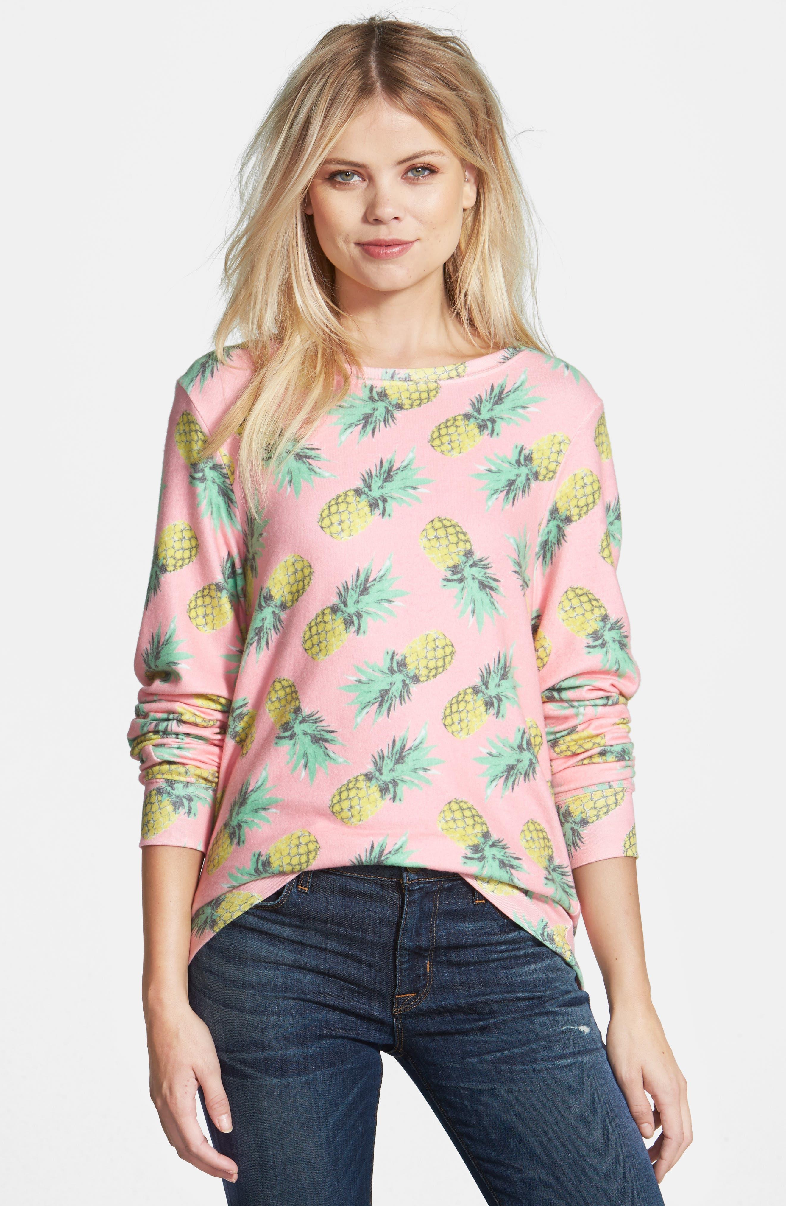 'Pineapple Palace' Sweatshirt,                             Alternate thumbnail 4, color,                             690