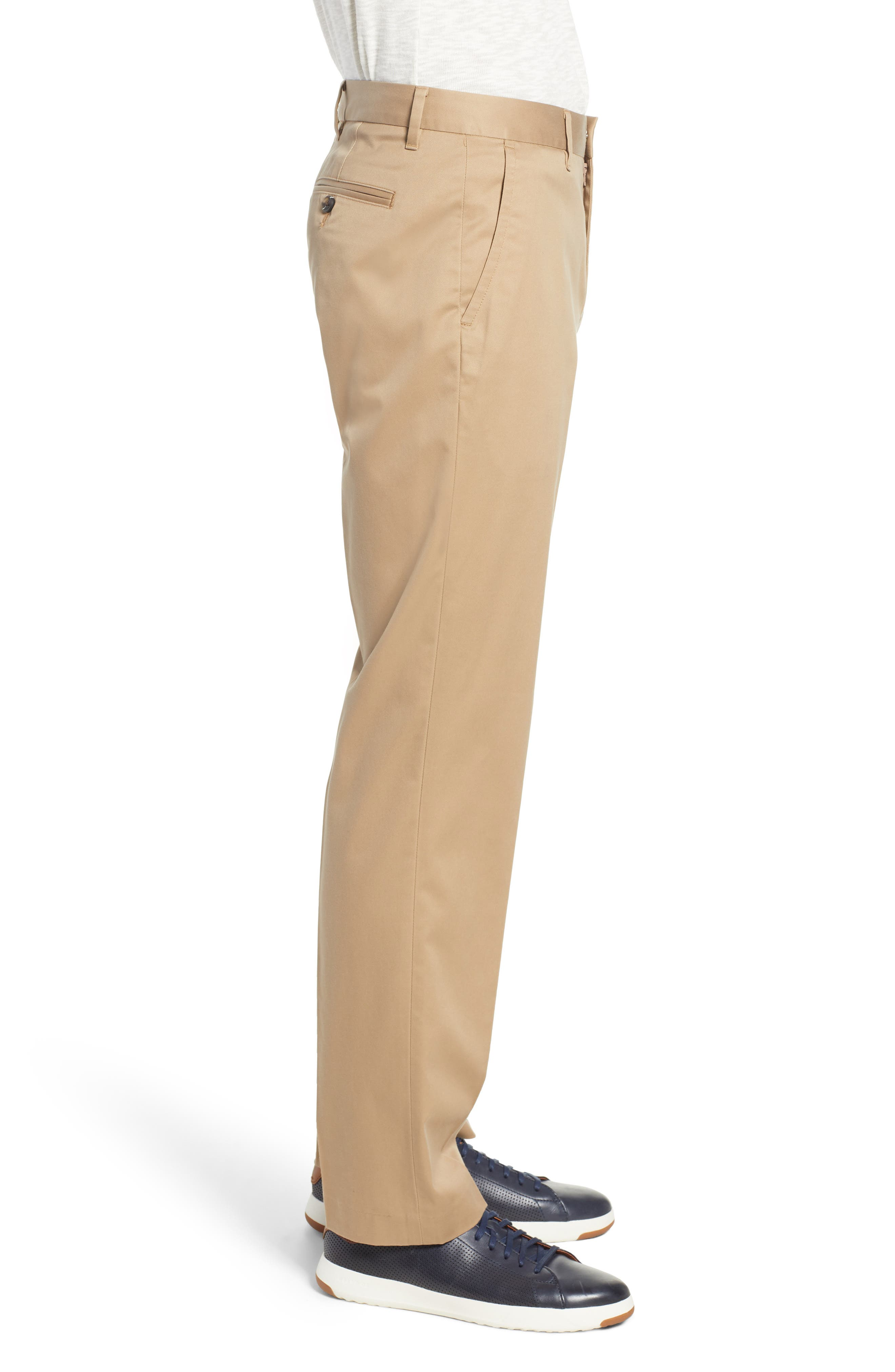 BONOBOS,                             Weekday Warrior Straight Leg Stretch Dress Pants,                             Alternate thumbnail 3, color,                             KHAKI TAN