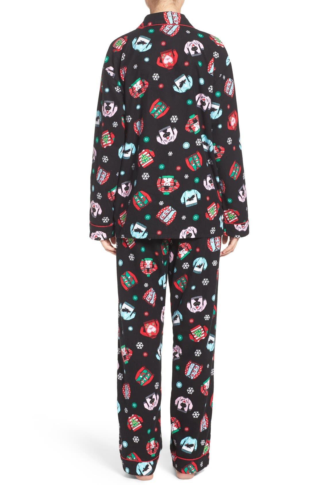 Print Flannel Pajamas,                             Alternate thumbnail 6, color,                             001