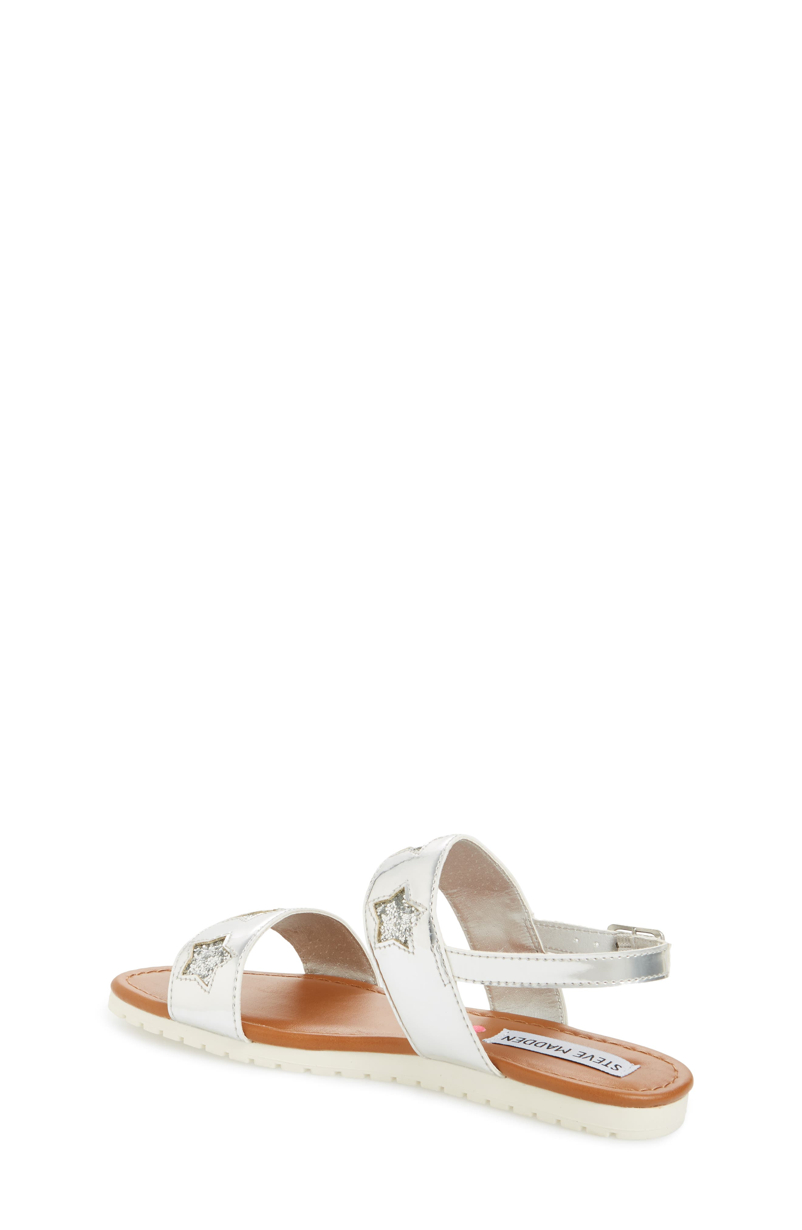Adventure Glitter Sandal,                             Alternate thumbnail 2, color,                             SILVER