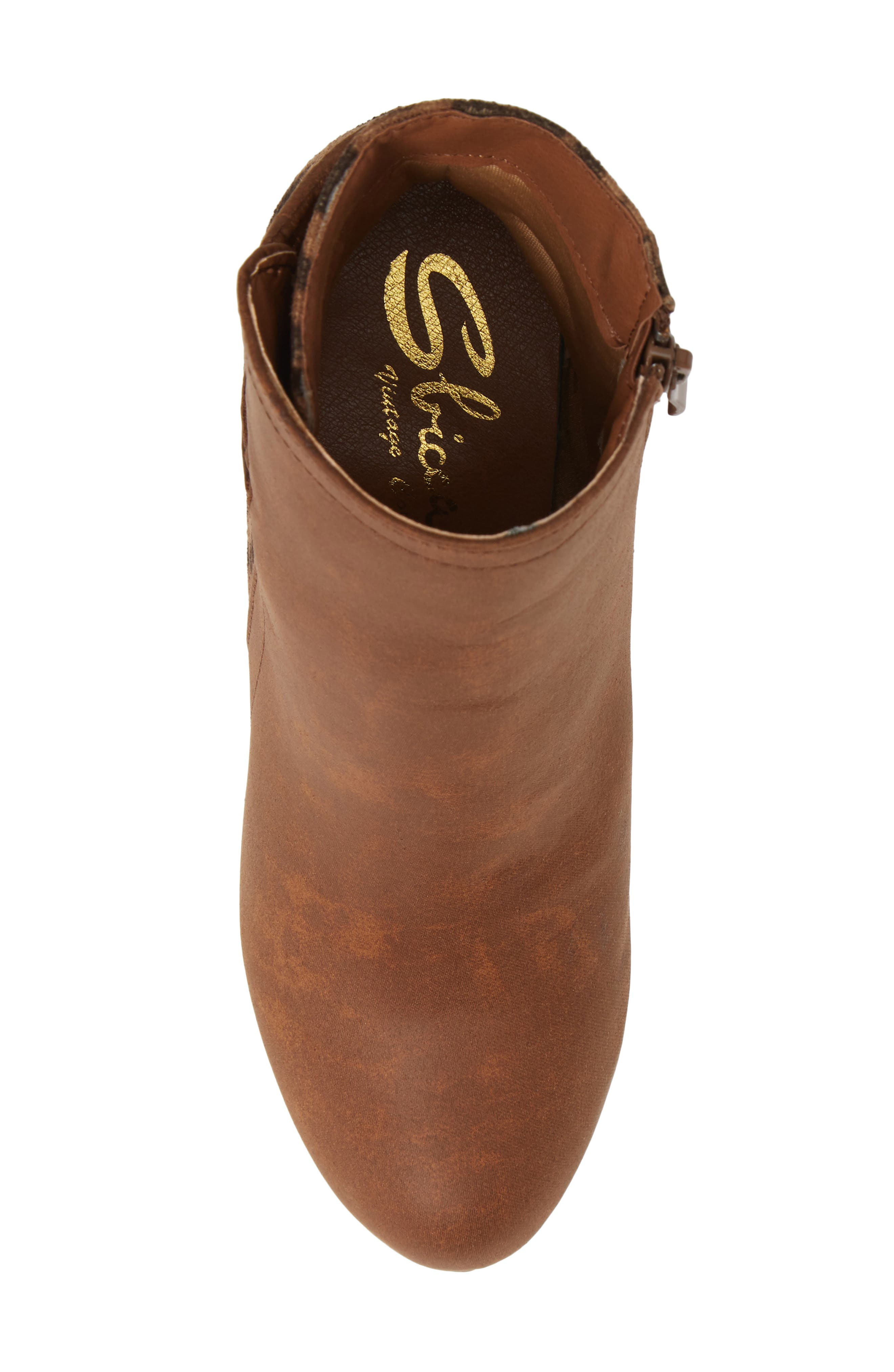 SBICCA,                             Colleen Wedge Boot,                             Alternate thumbnail 5, color,                             TAN LEOPARD FABRIC