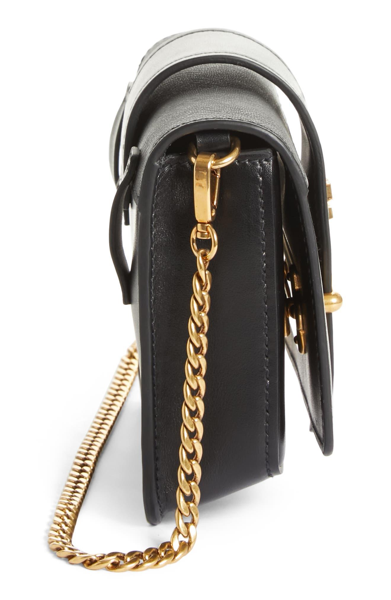 Cahier Calfskin Leather Convertible Belt Bag,                             Alternate thumbnail 5, color,                             001
