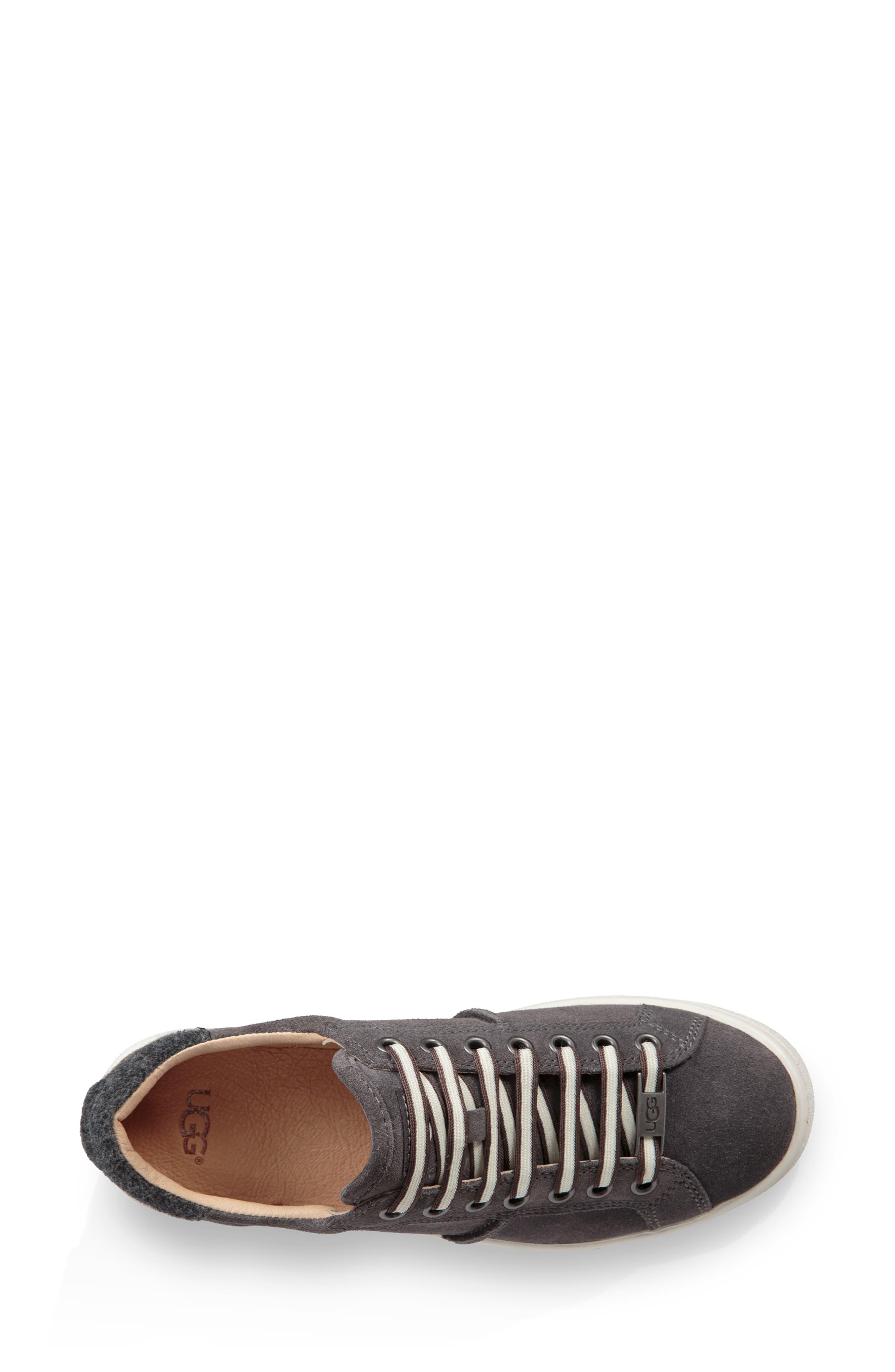 Milo Sneaker,                             Alternate thumbnail 4, color,                             CHARCOAL SUEDE