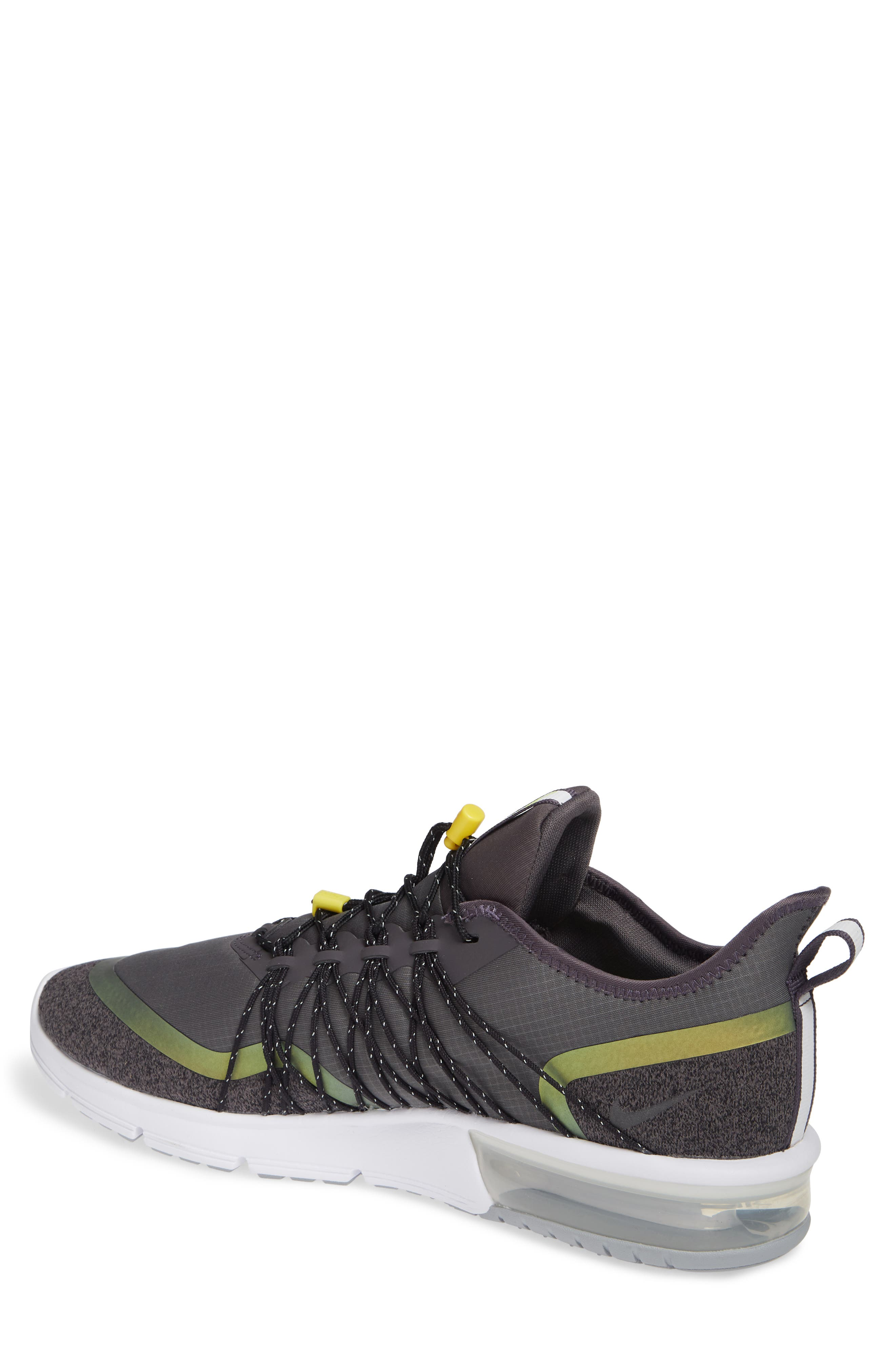 Air Max Sequent 4 Utility Running Shoe,                             Alternate thumbnail 2, color,                             THUNDER GREY/ VOLT