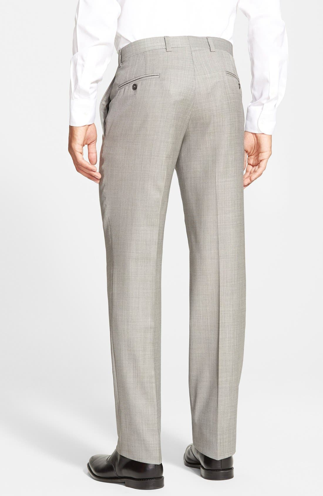 Jefferson Flat Front Wool Trousers,                             Alternate thumbnail 46, color,