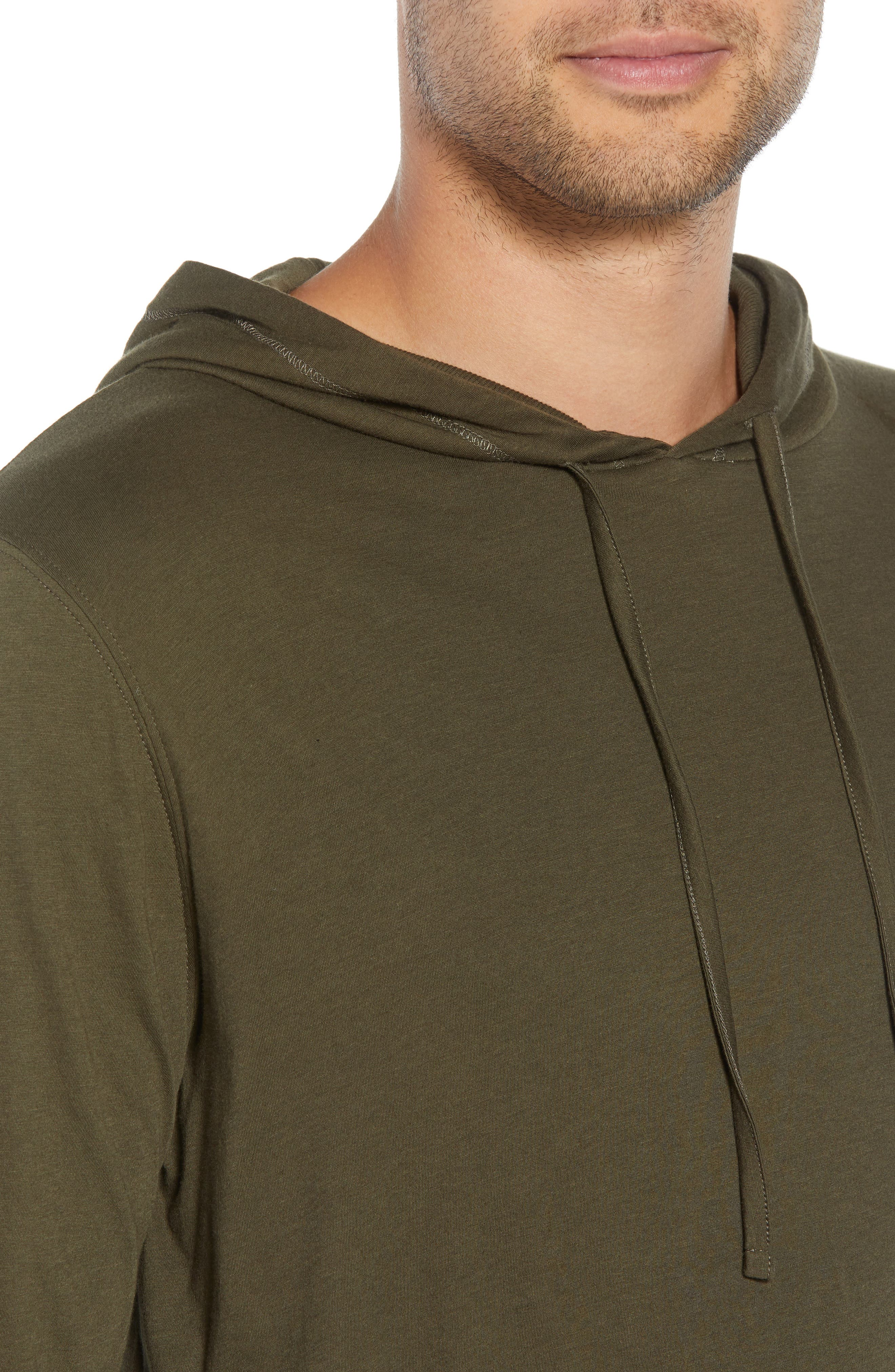 VINCE,                             Regular Fit Double Layer Hoodie,                             Alternate thumbnail 4, color,                             374