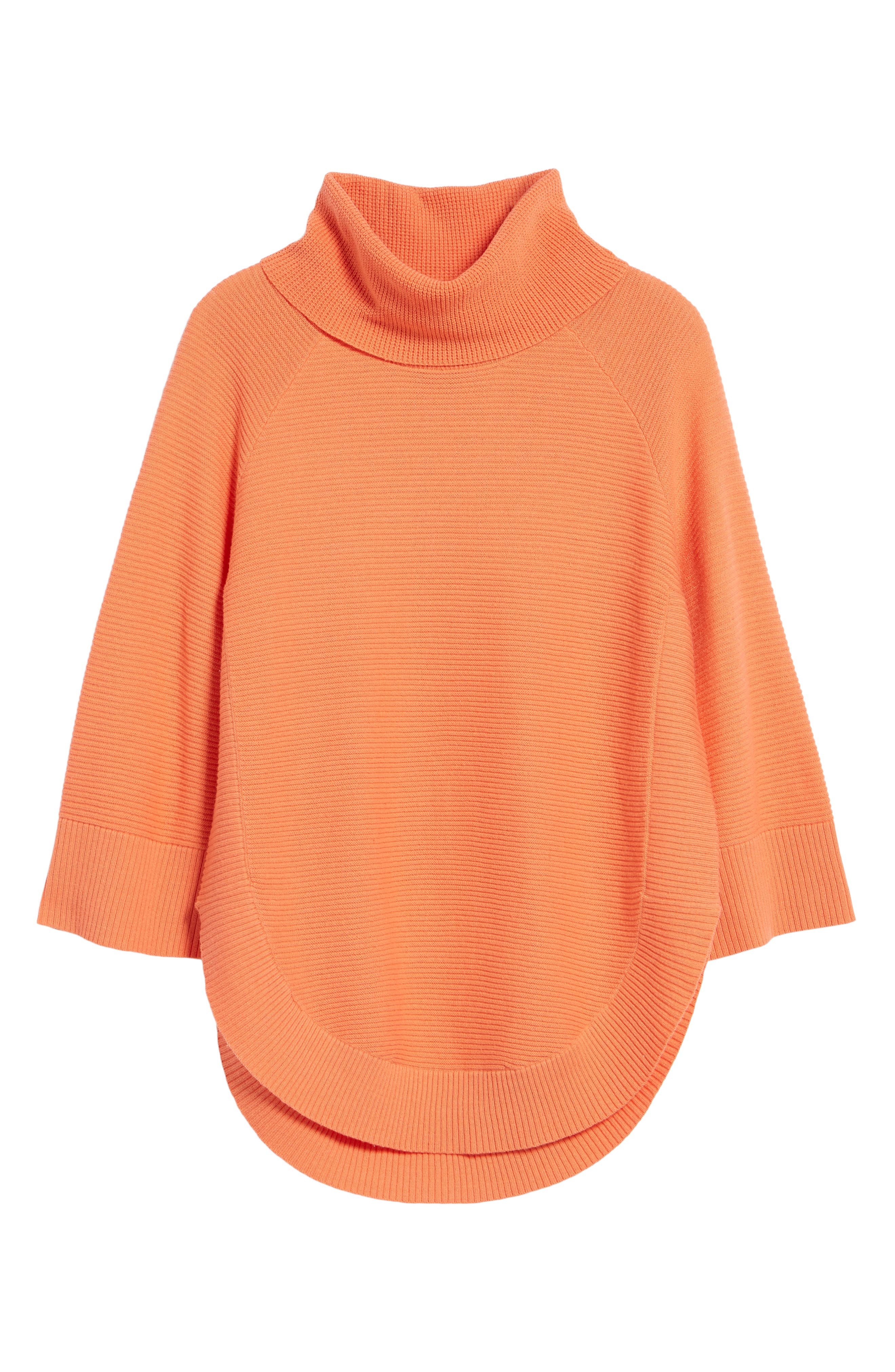 Cowl Neck Shirttail Hem Sweater,                             Alternate thumbnail 18, color,