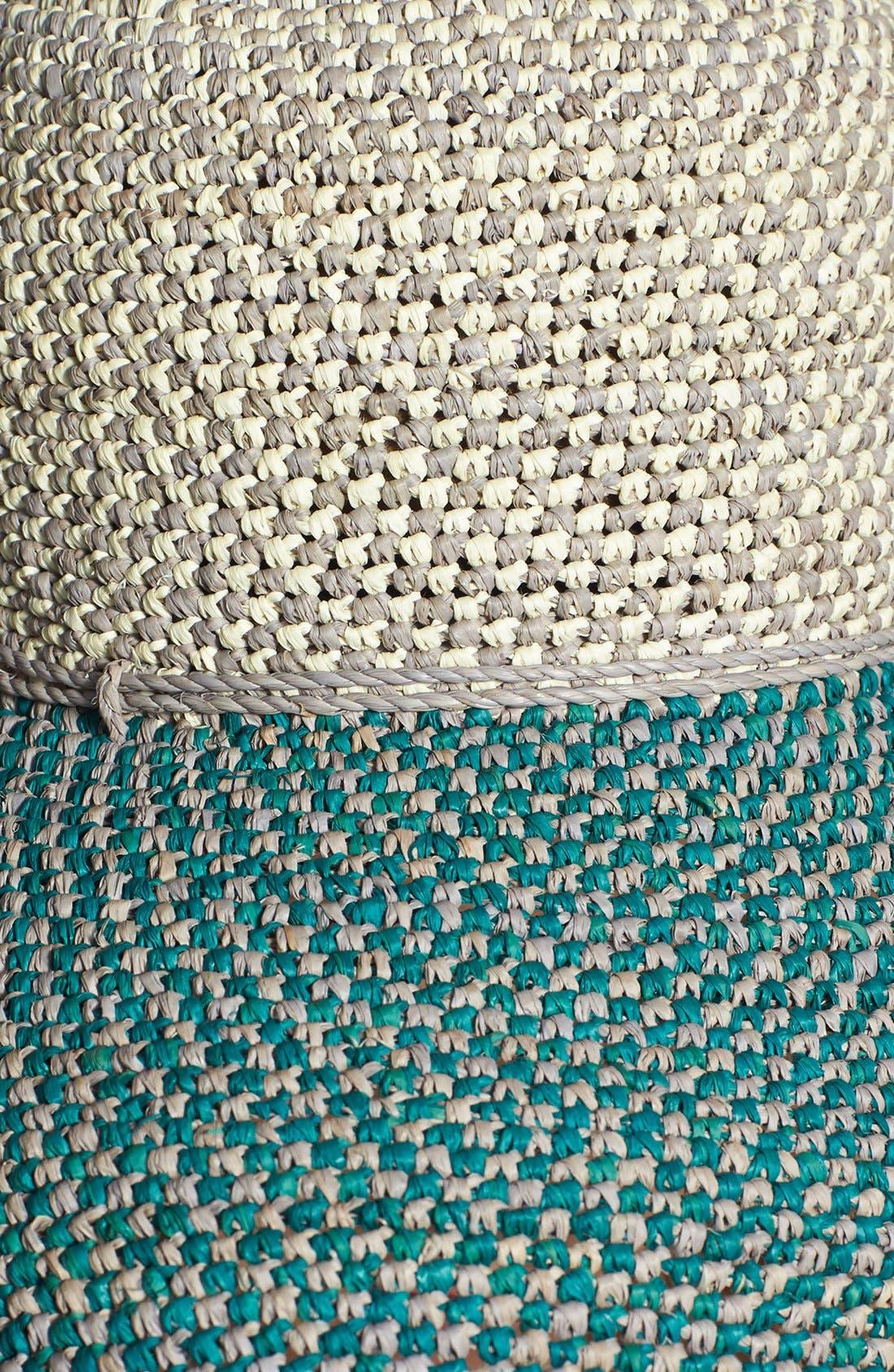 'Provence 12' Packable Raffia Hat,                             Alternate thumbnail 25, color,