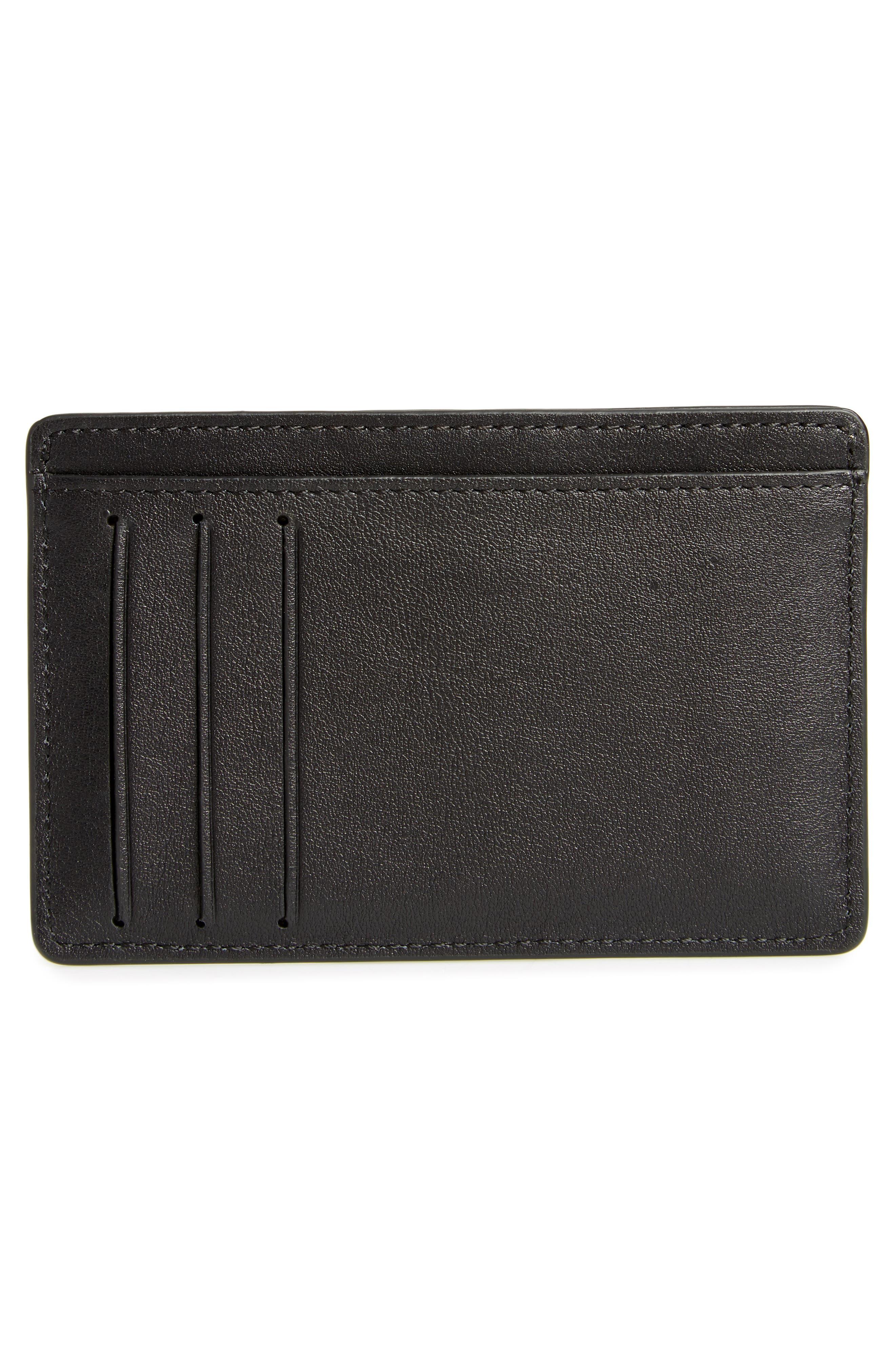 Leather Card Holder,                             Alternate thumbnail 2, color,                             001