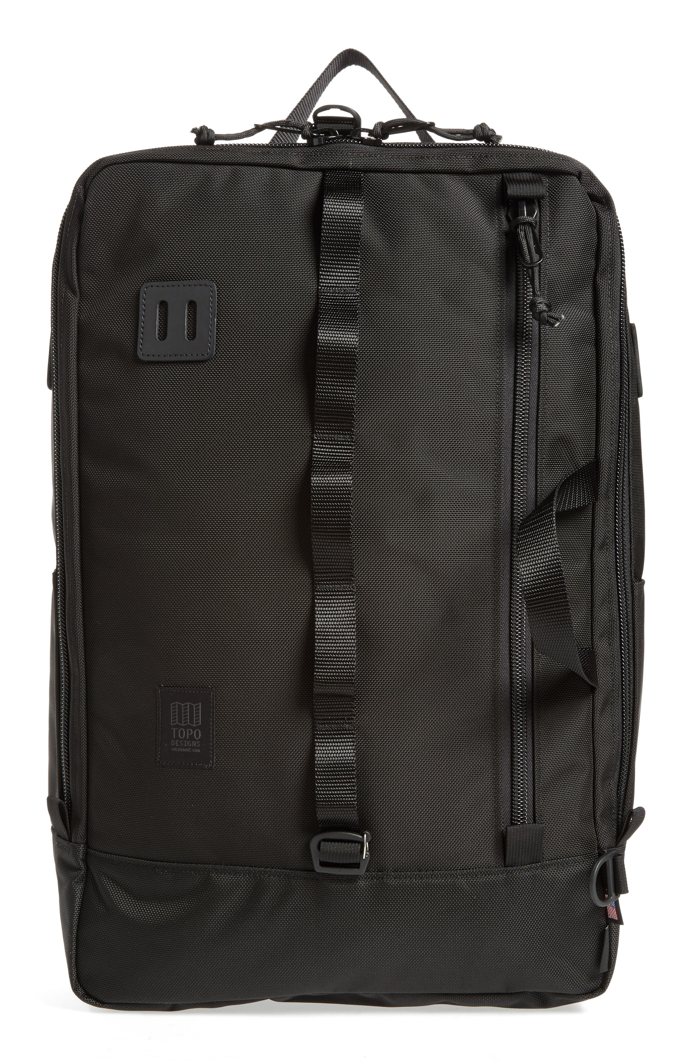 Travel Backpack,                             Main thumbnail 1, color,                             BALLISTIC BLACK