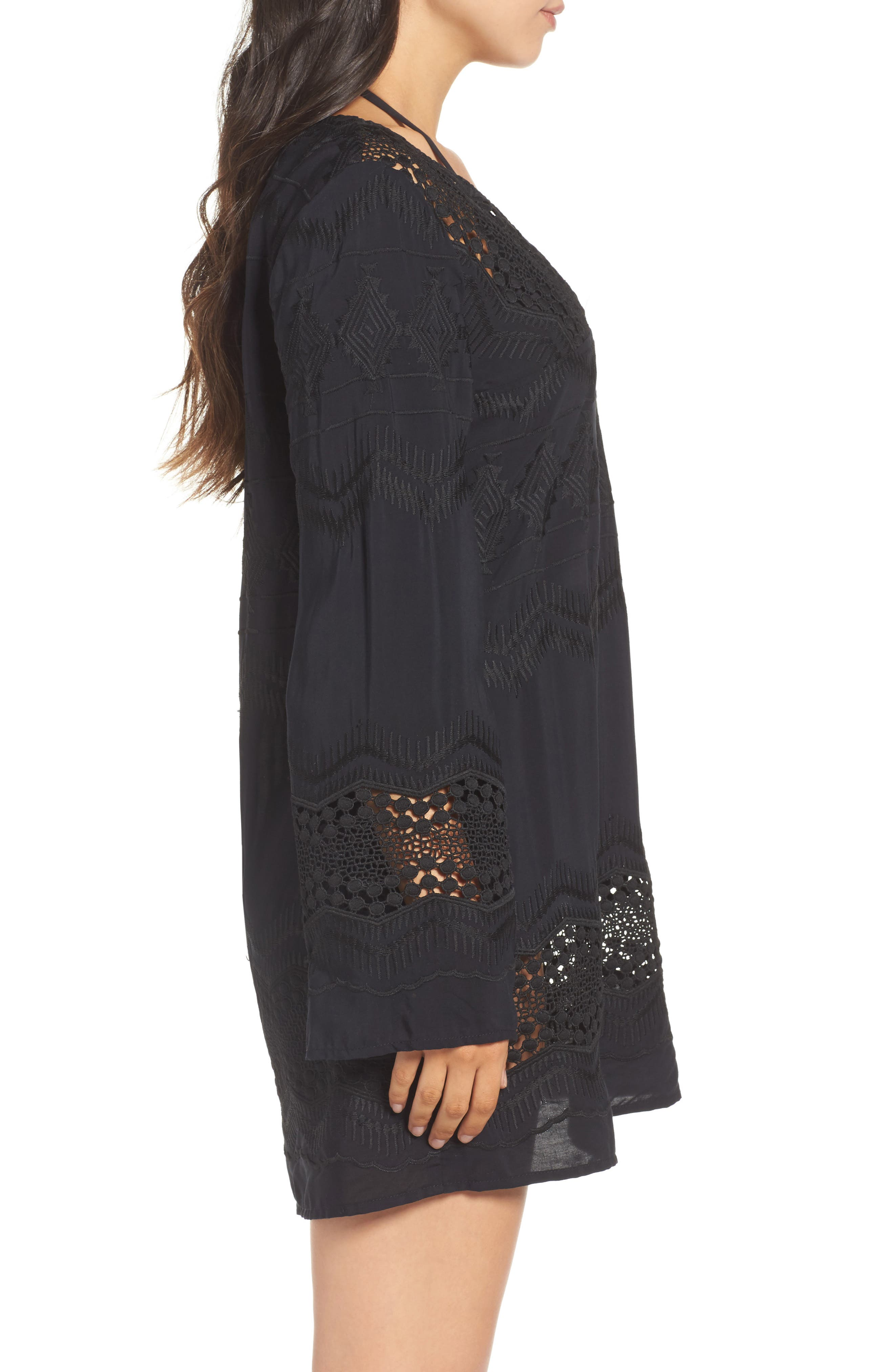 Cover-Up Tunic,                             Alternate thumbnail 3, color,                             BLACK