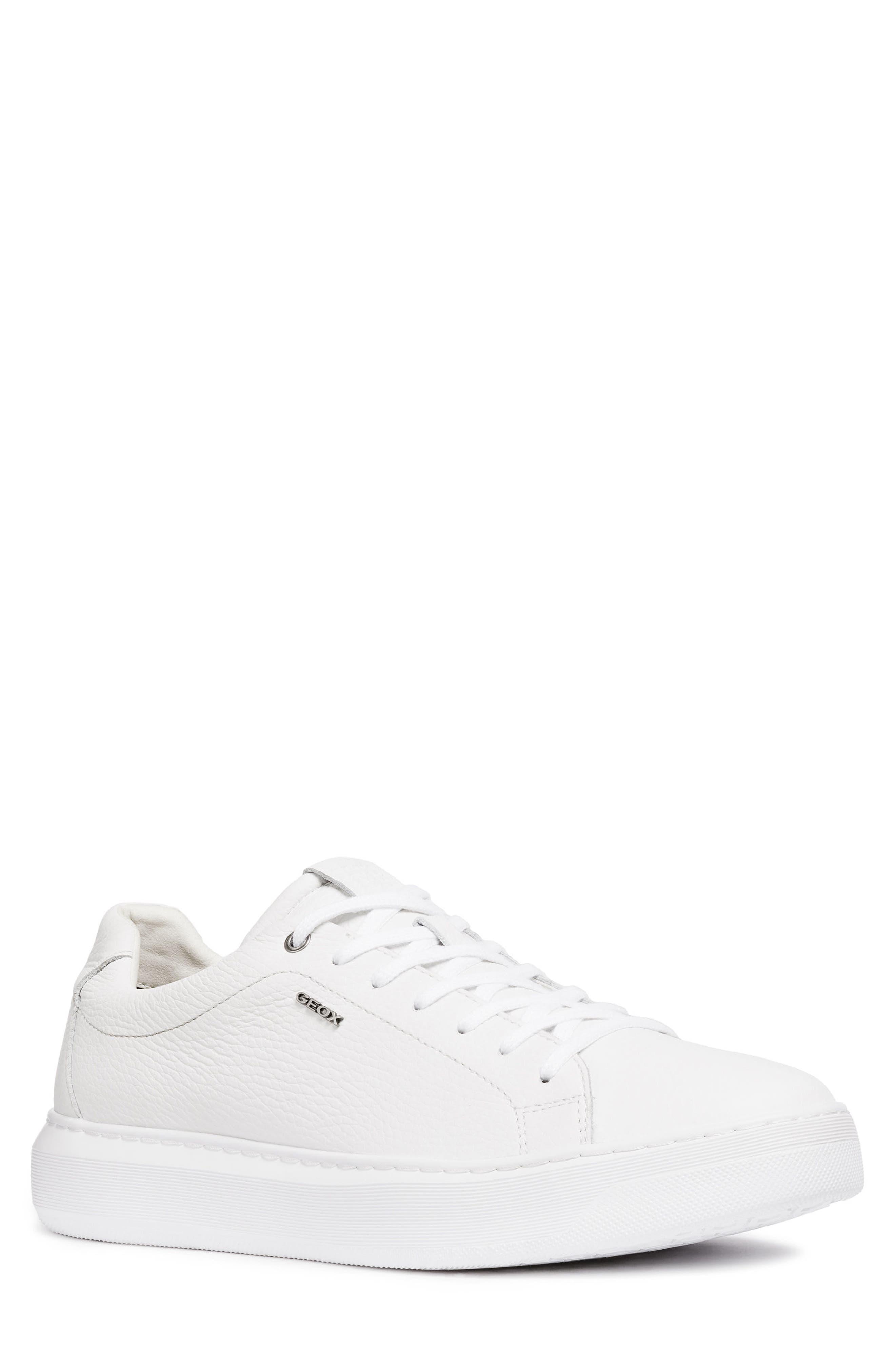 men's geox deiven 6 low top sneaker, size 6us / 39eu - white