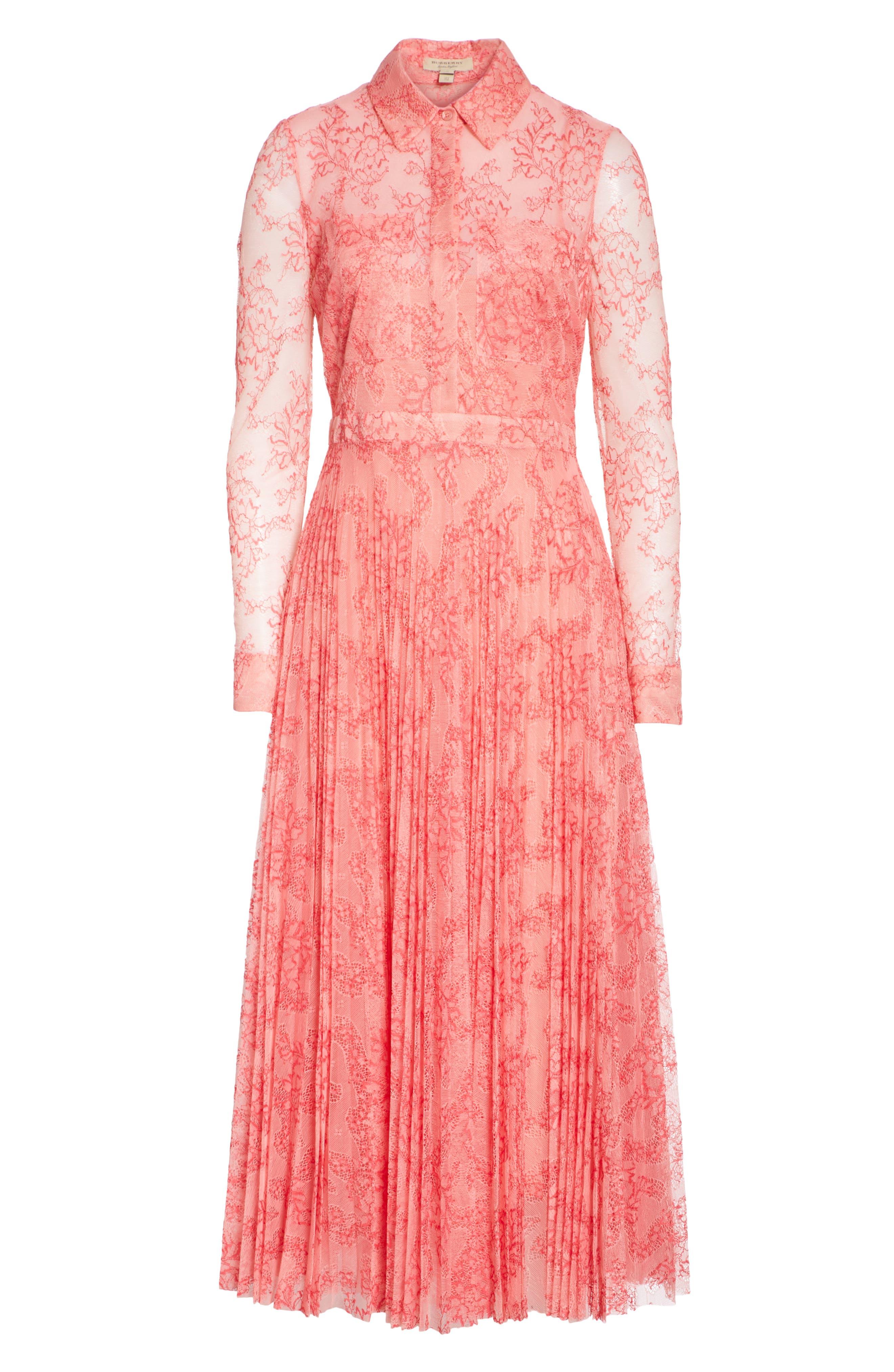 Clementine Floral Lace Midi Dress,                             Alternate thumbnail 7, color,                             956