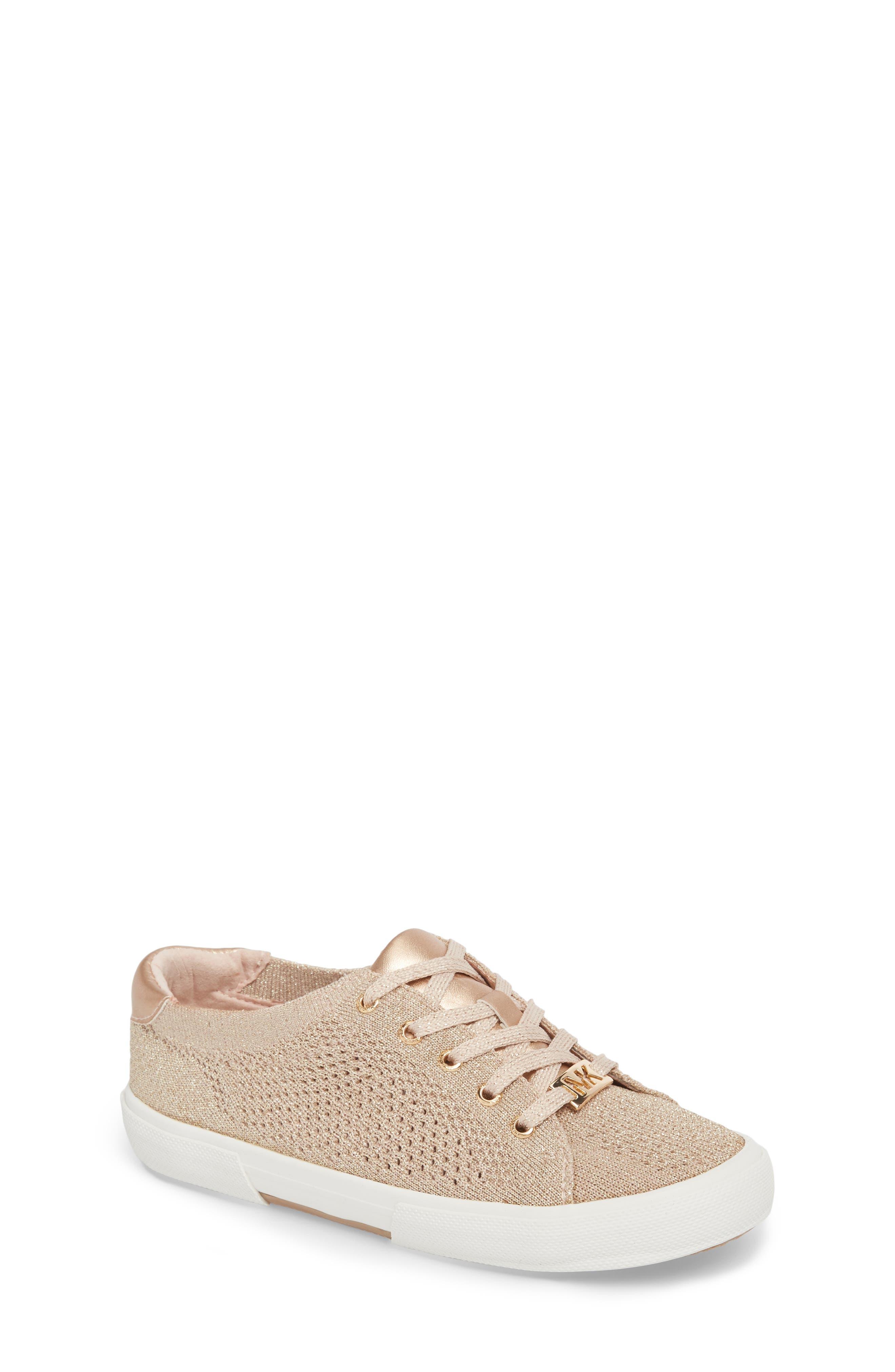 Ima Metallic Knit Sneaker,                             Main thumbnail 1, color,                             BLUSH SHIMMER