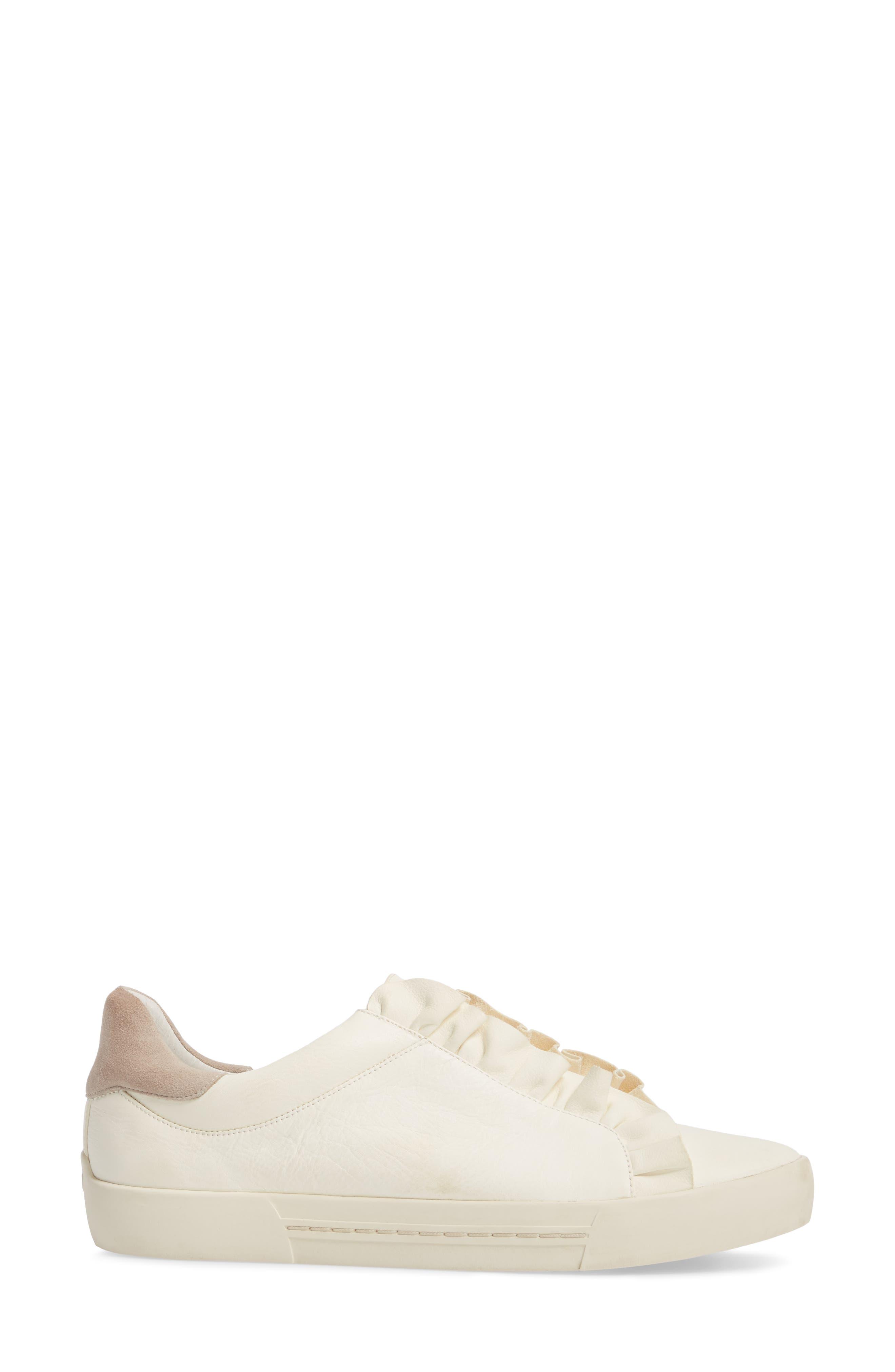 Daw Ruffle Slip-On Sneaker,                             Alternate thumbnail 3, color,                             900