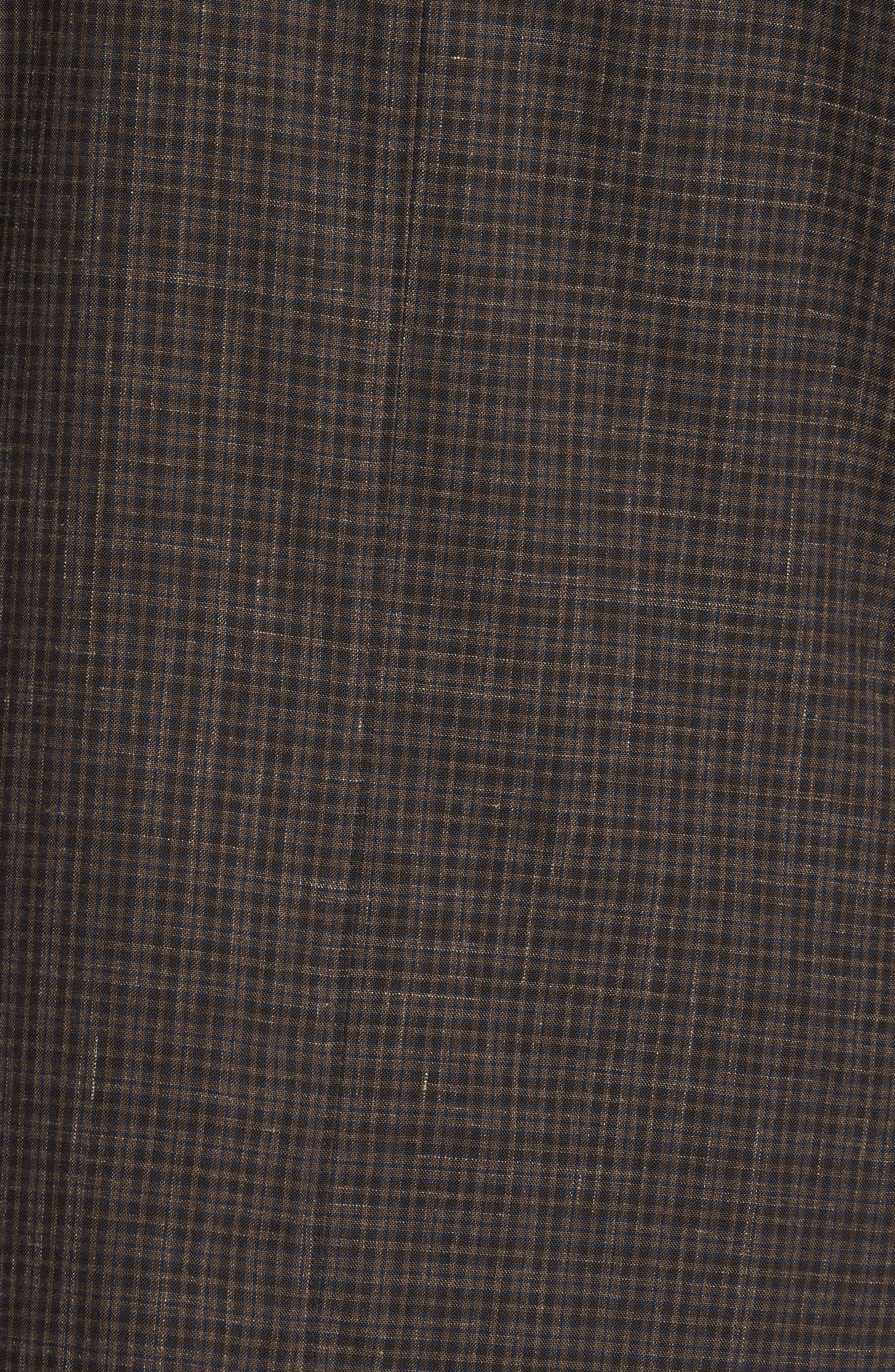 Trim Fit Check Wool & Linen Sport Coat,                             Alternate thumbnail 6, color,                             201