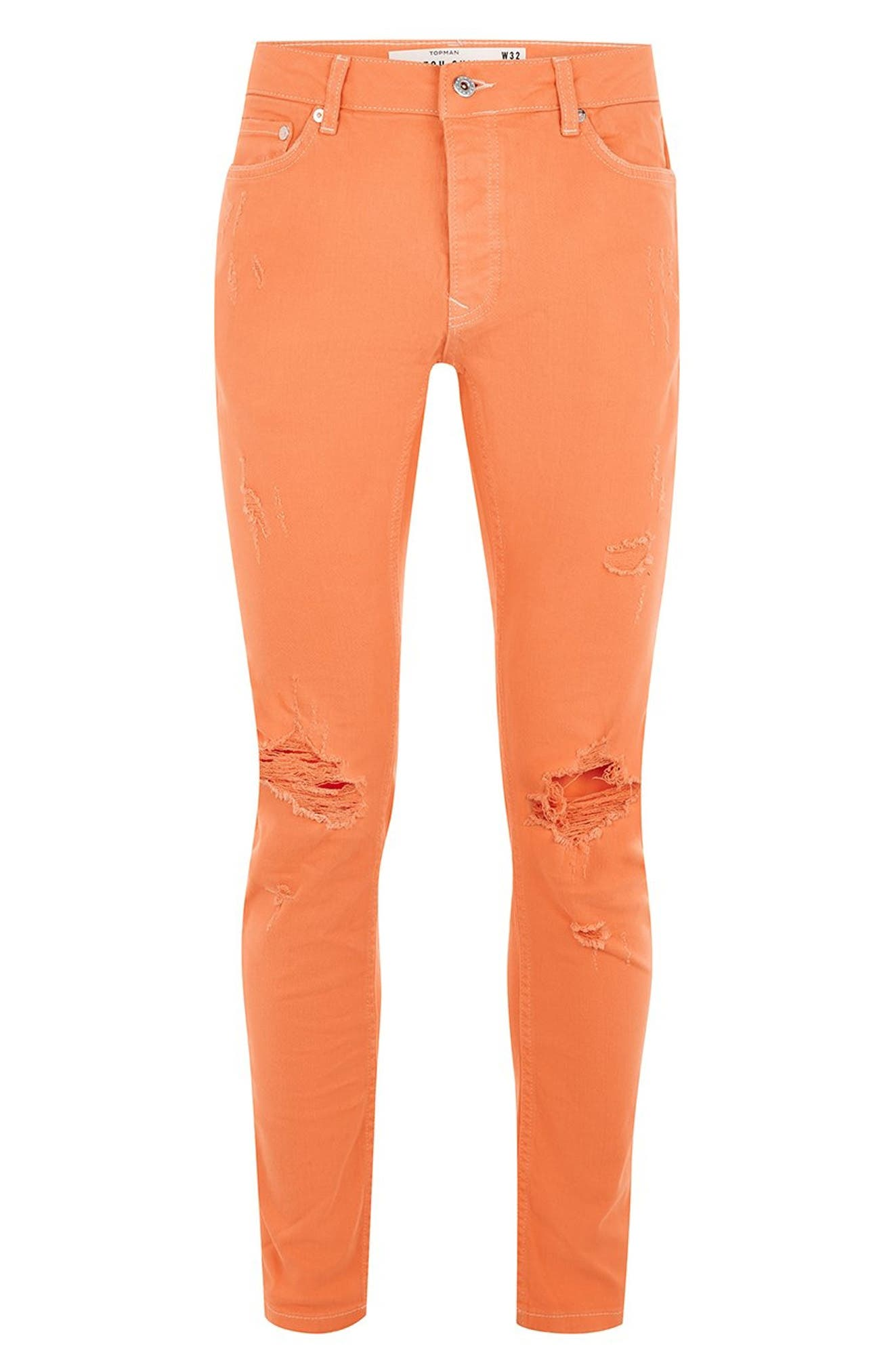 Ripped Skinny Fit Jeans,                             Alternate thumbnail 4, color,                             800