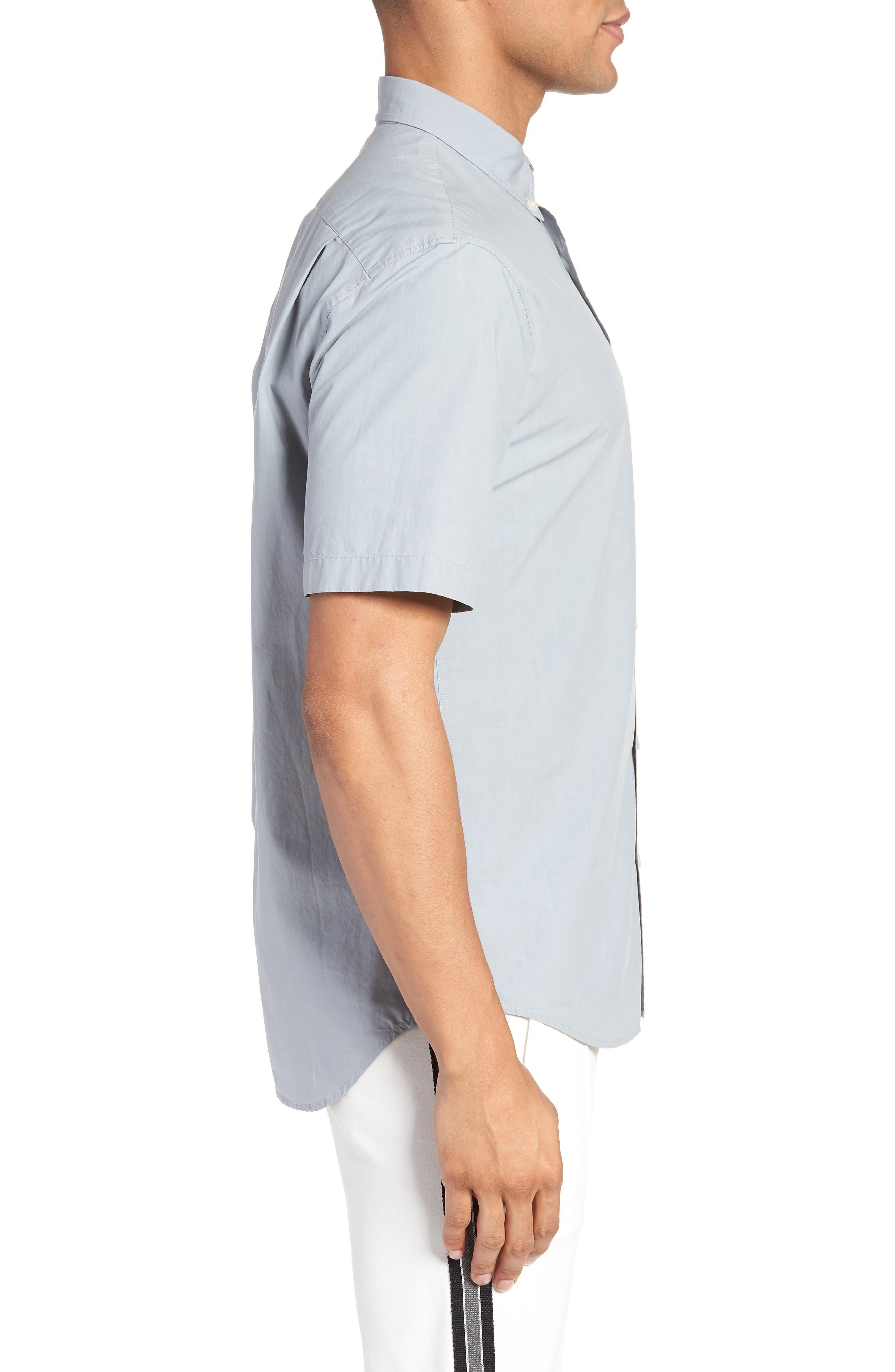 Slim Fit Sport Shirt,                             Alternate thumbnail 3, color,                             STORM