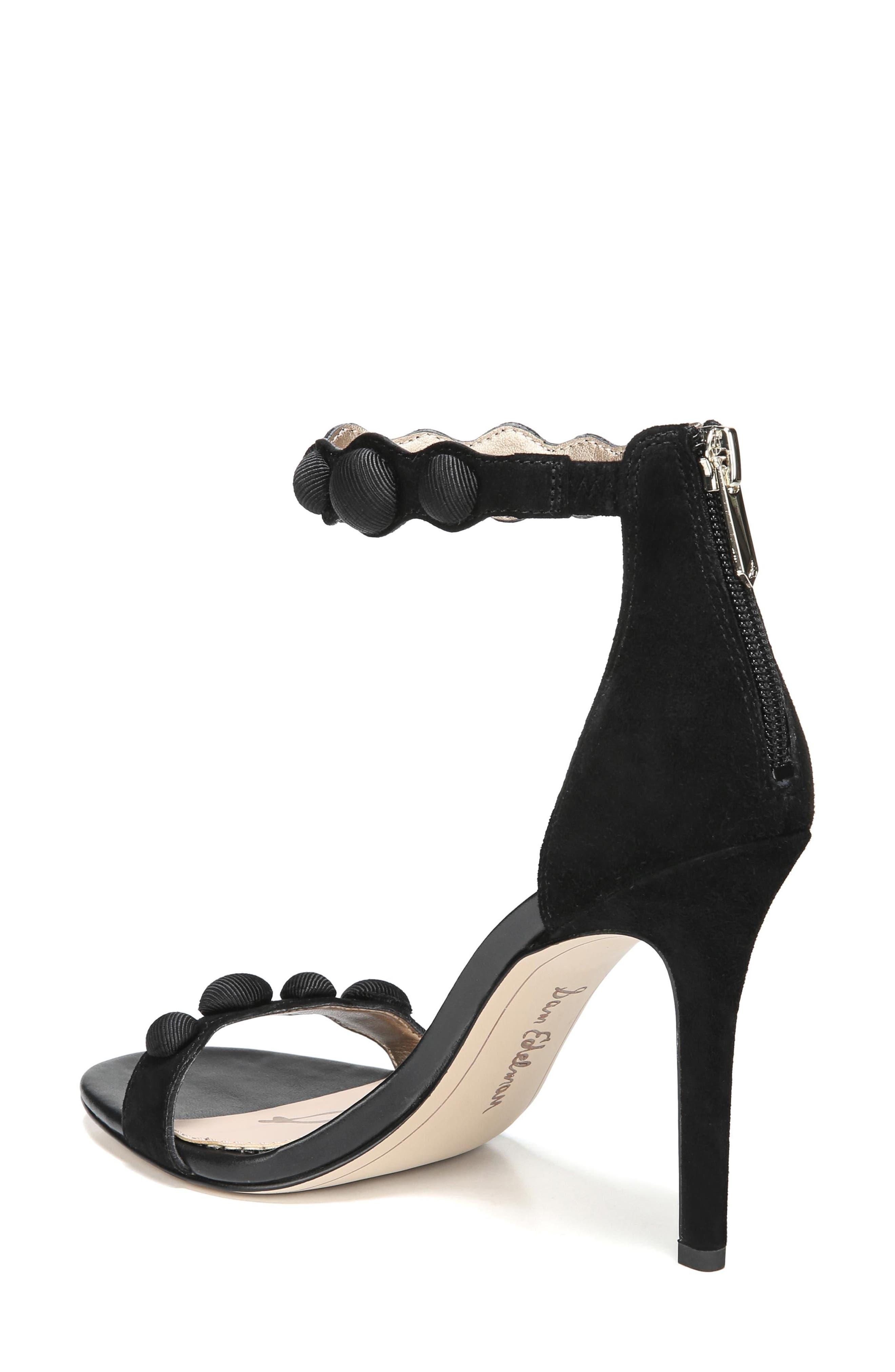 Sam Edelmen Addison Embellished Ankle Strap Sandal,                             Alternate thumbnail 2, color,                             001