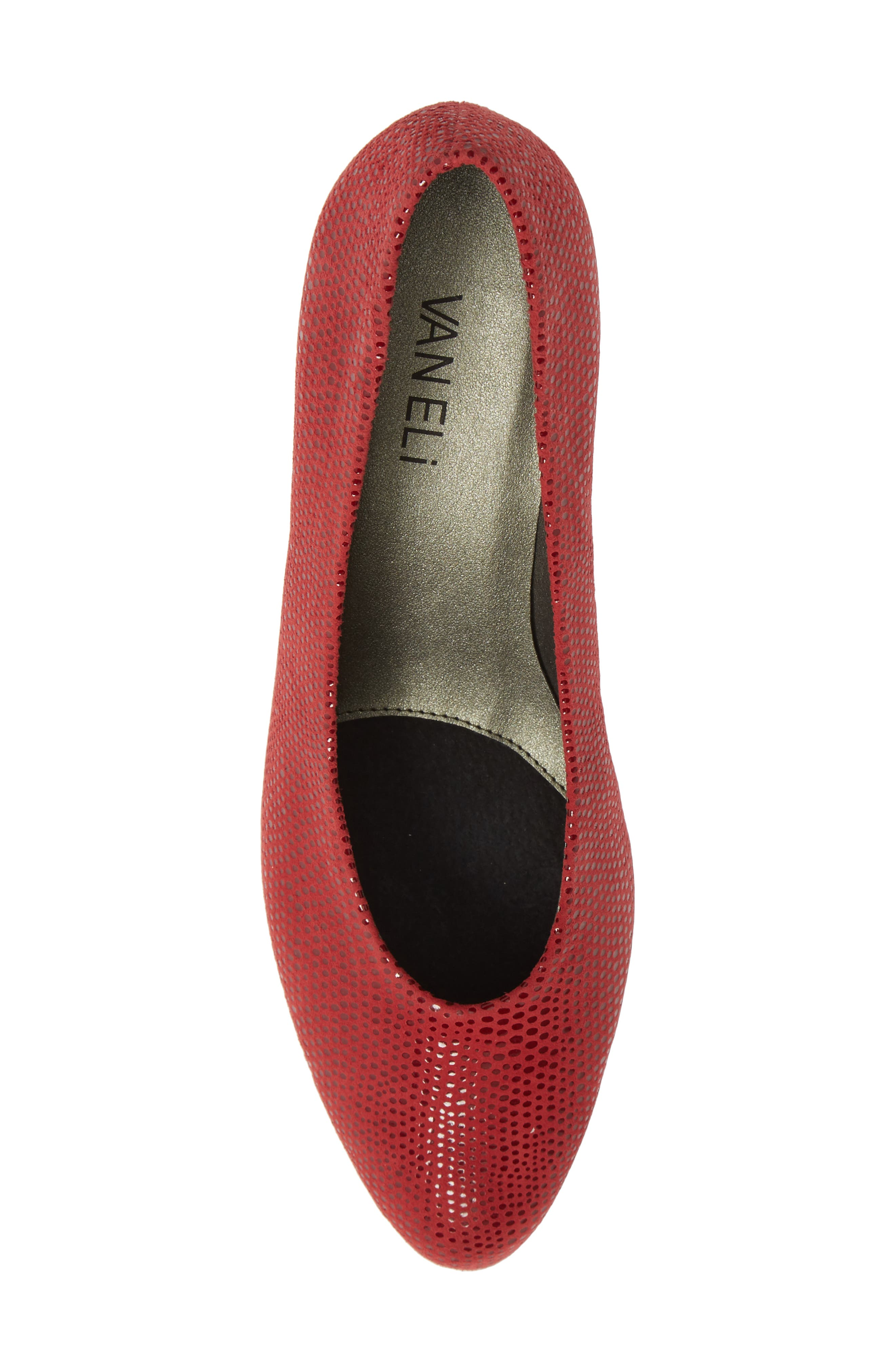 'Dayle' Pump,                             Alternate thumbnail 5, color,                             RED LEATHER
