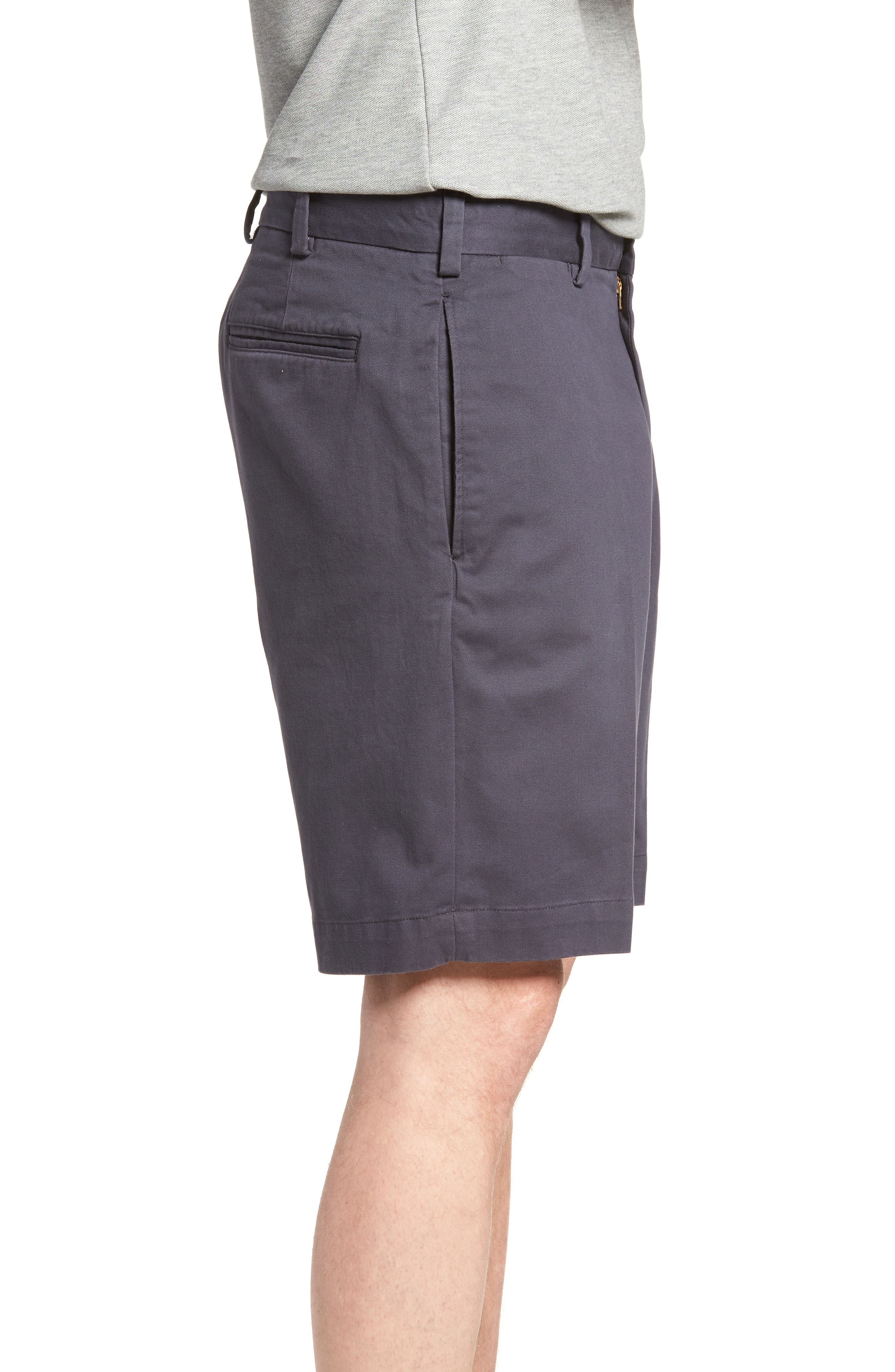 M2 Classic Fit Flat Front Vintage Twill Shorts,                             Alternate thumbnail 3, color,
