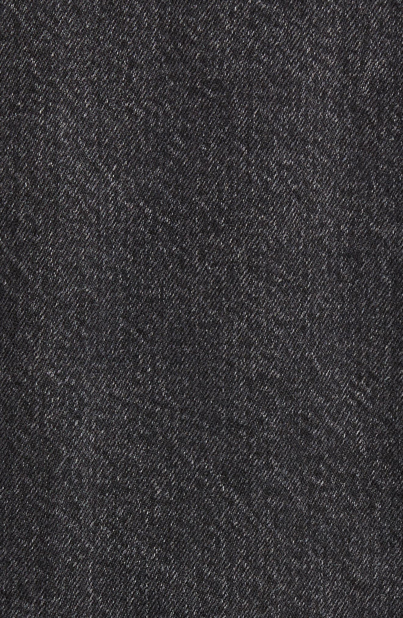 Altered Distressed Denim Trucker Jacket,                             Alternate thumbnail 6, color,                             001