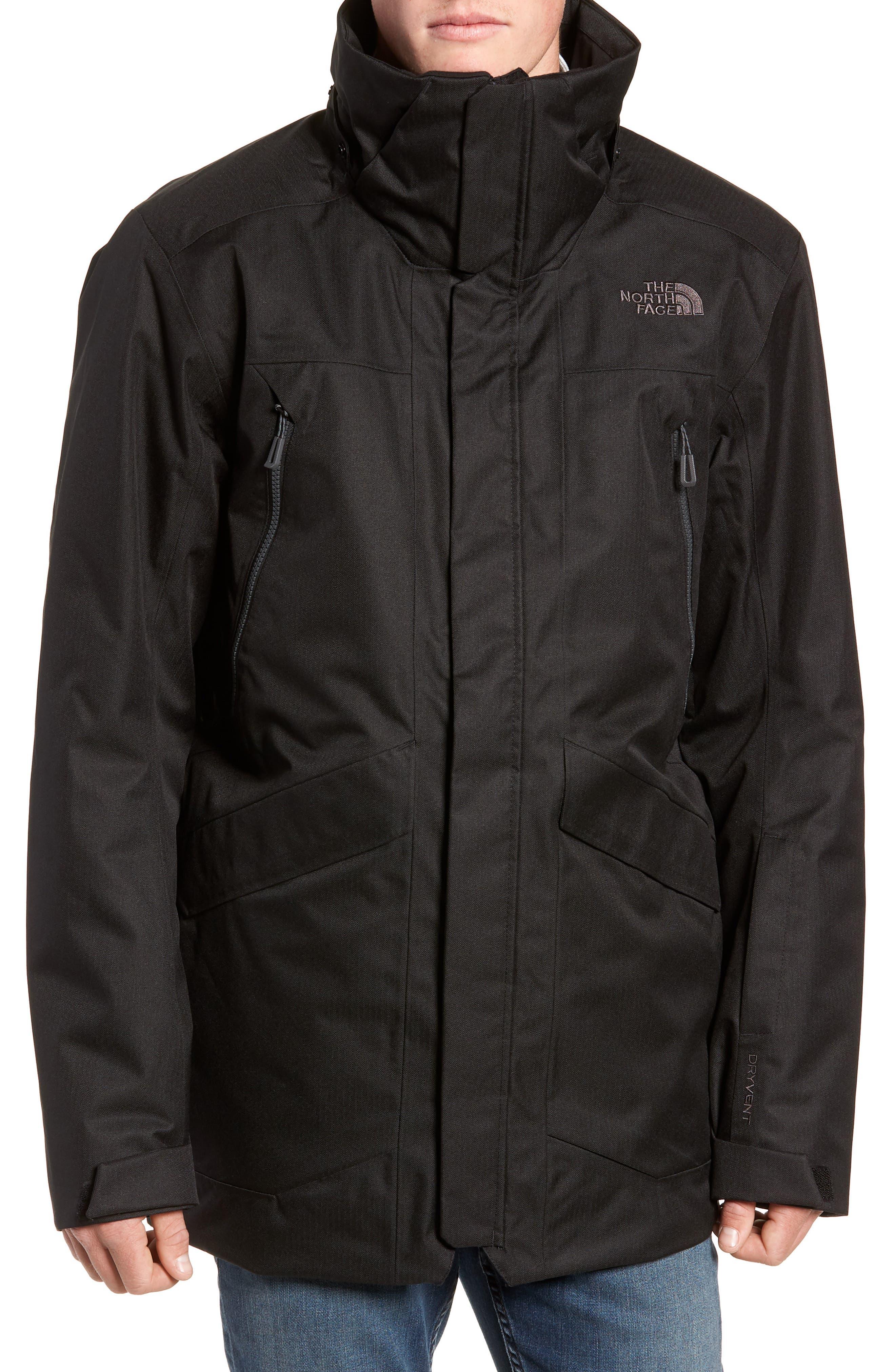 Gatekeeper Waterproof Jacket,                             Alternate thumbnail 4, color,                             TNF BLACK/TNF BLACK