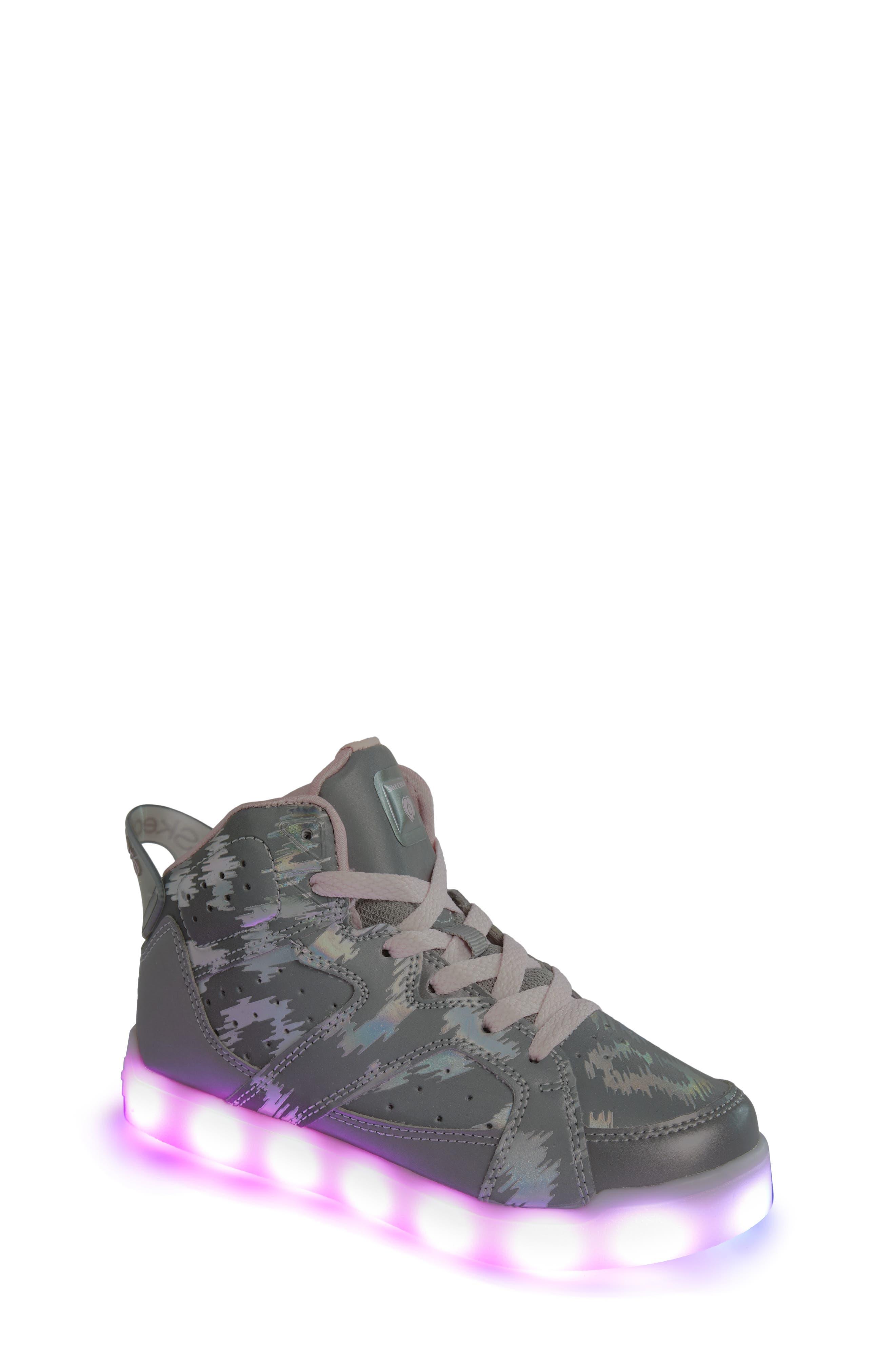 Energy Lights Pro Reflecti-Fab Sneaker,                             Alternate thumbnail 7, color,                             SILVER