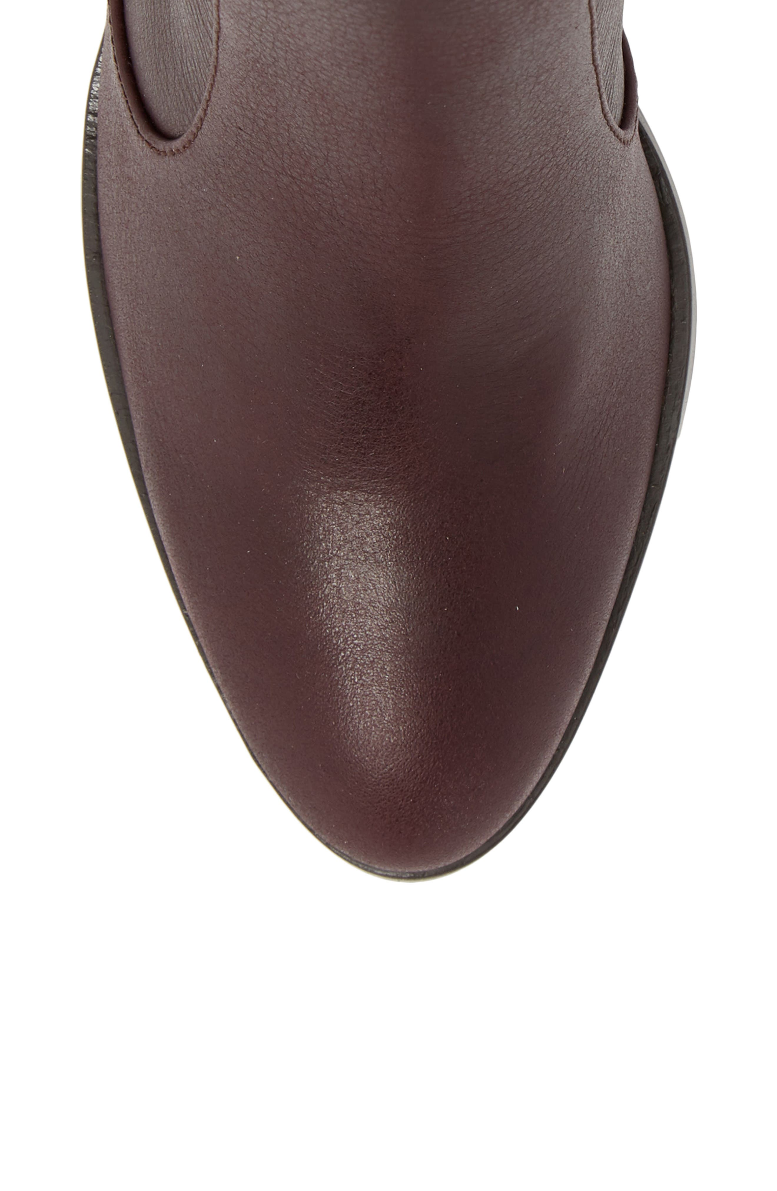Roselyn Bootie,                             Alternate thumbnail 5, color,                             DEEP PLUM LEATHER