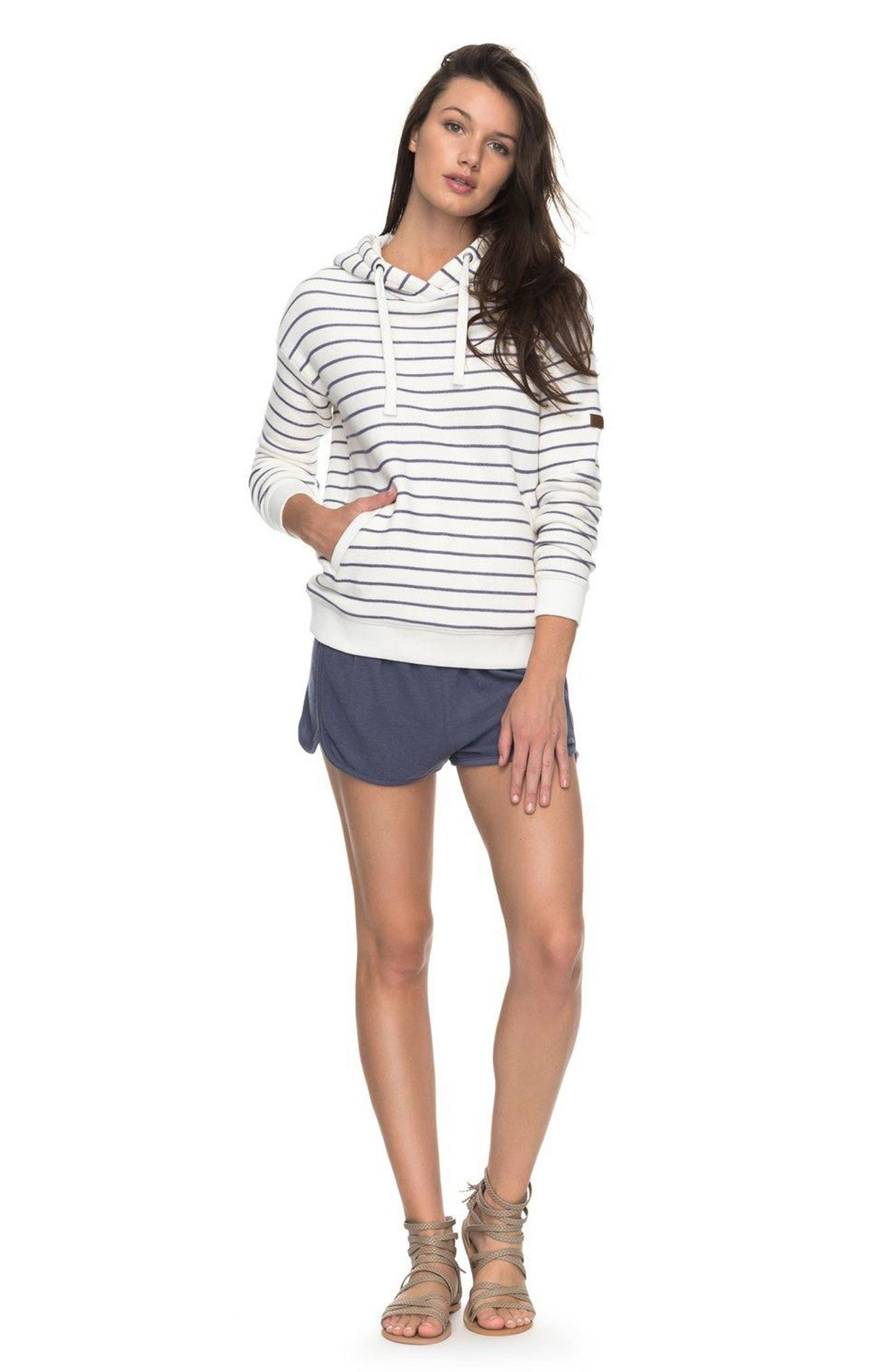 Shoal Stripe Hoodie,                             Alternate thumbnail 3, color,                             110