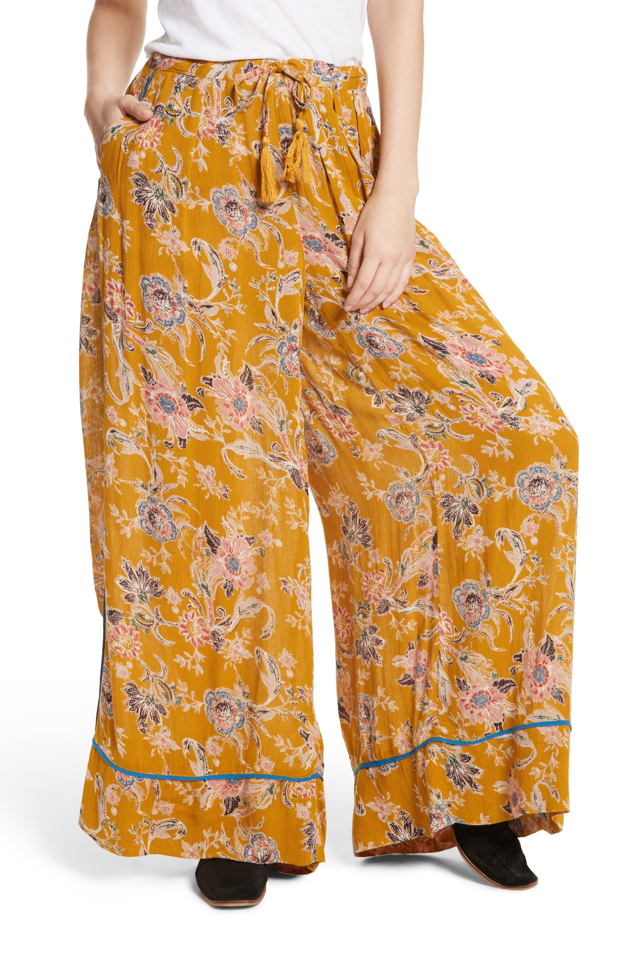Bali Wildflower Wide Leg Pants,                             Main thumbnail 2, color,