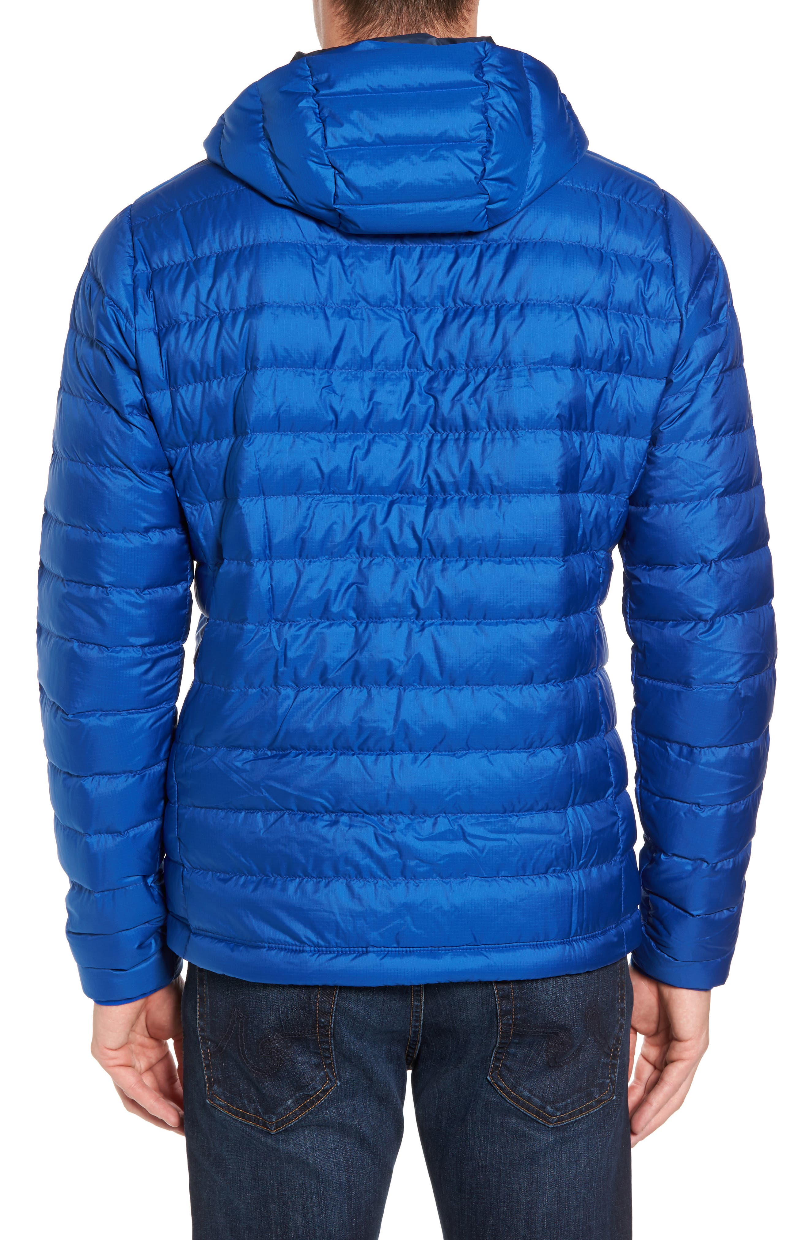 Packable Windproof & Water Resistant Goose Down Sweater Hooded Jacket,                             Alternate thumbnail 9, color,