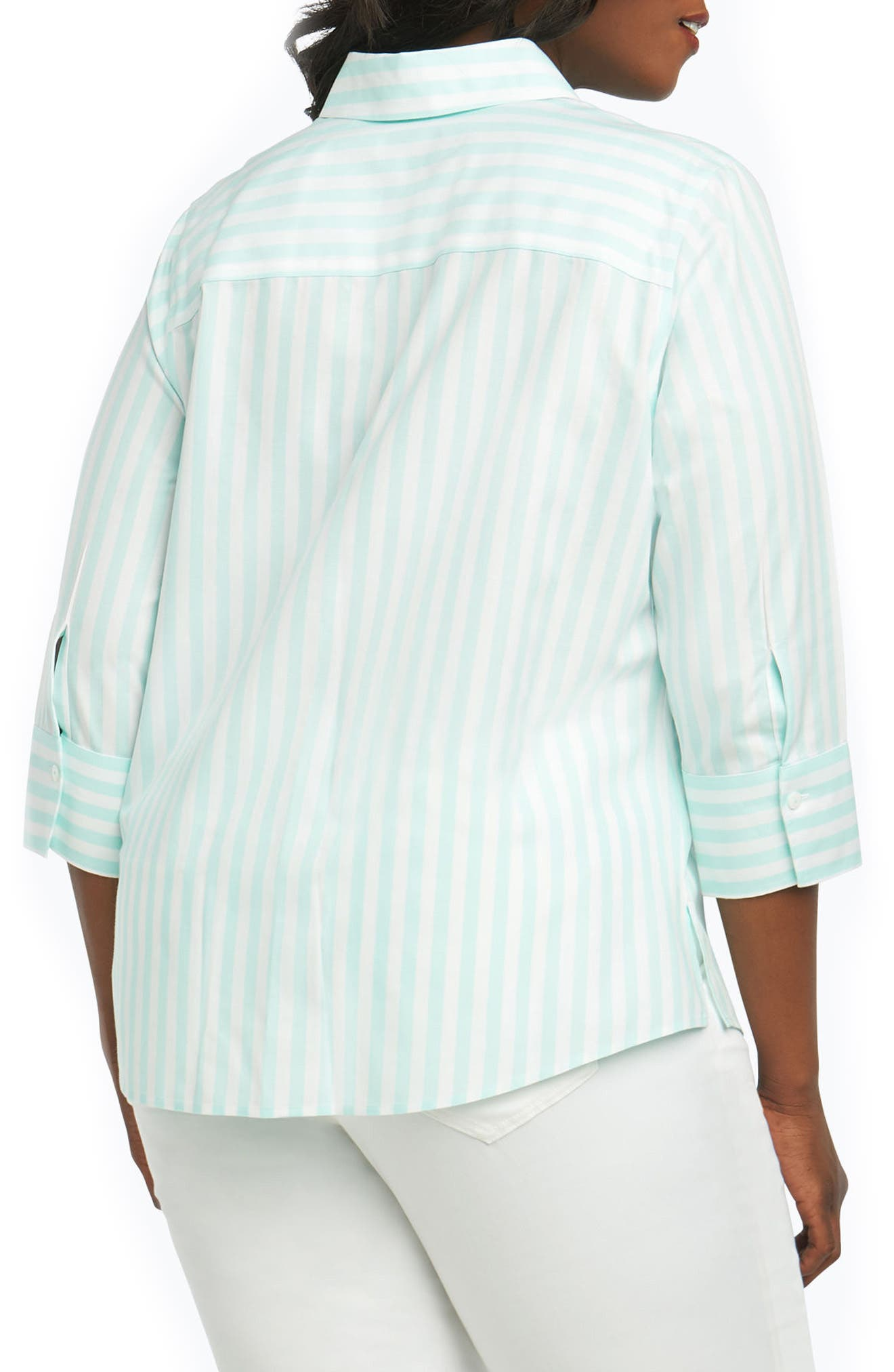 Ava Royal Oxford Stripe Shirt,                             Alternate thumbnail 2, color,                             455
