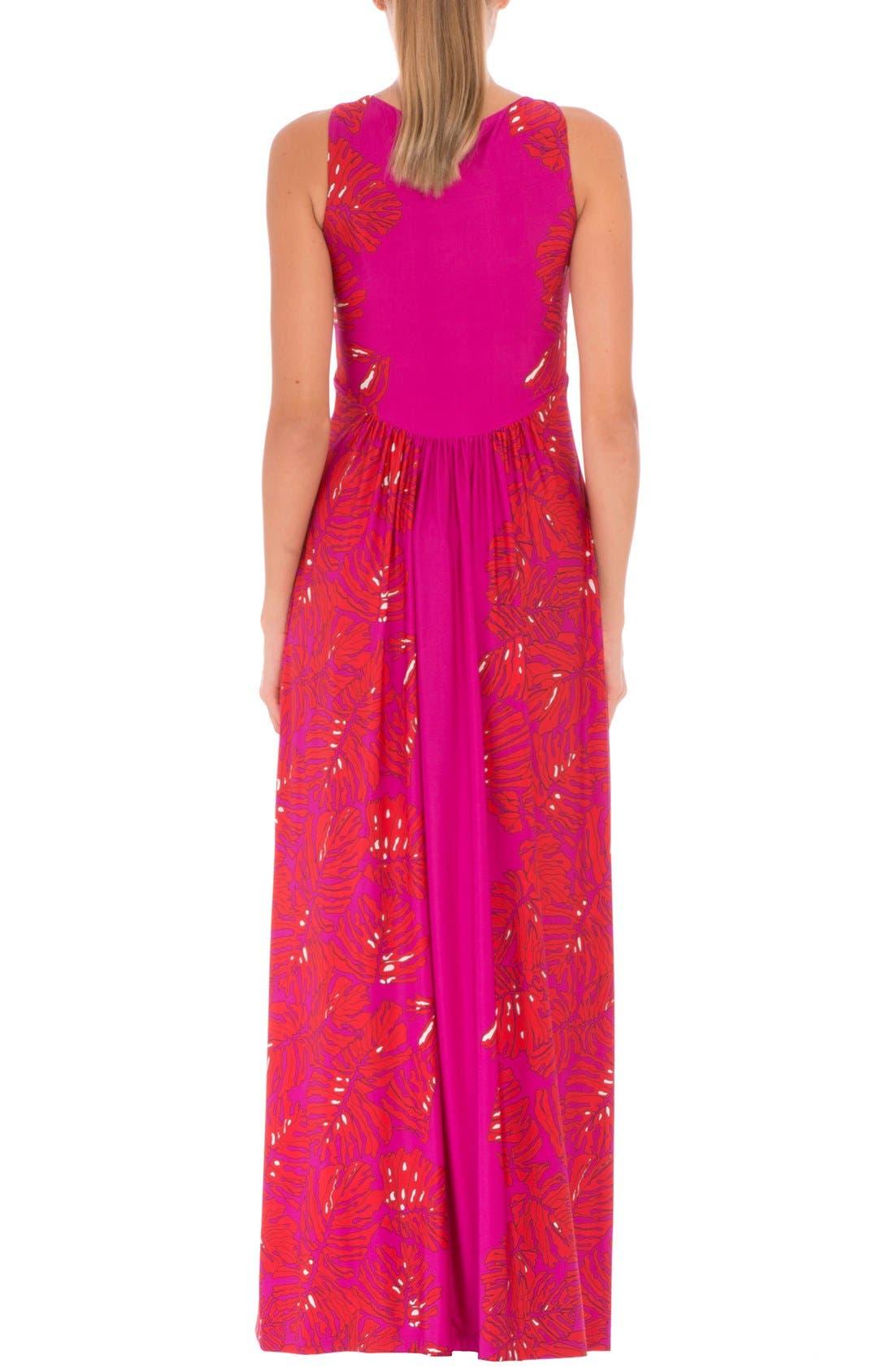 Scarlet Sleeveless Maternity Maxi Dress,                             Alternate thumbnail 2, color,                             RED