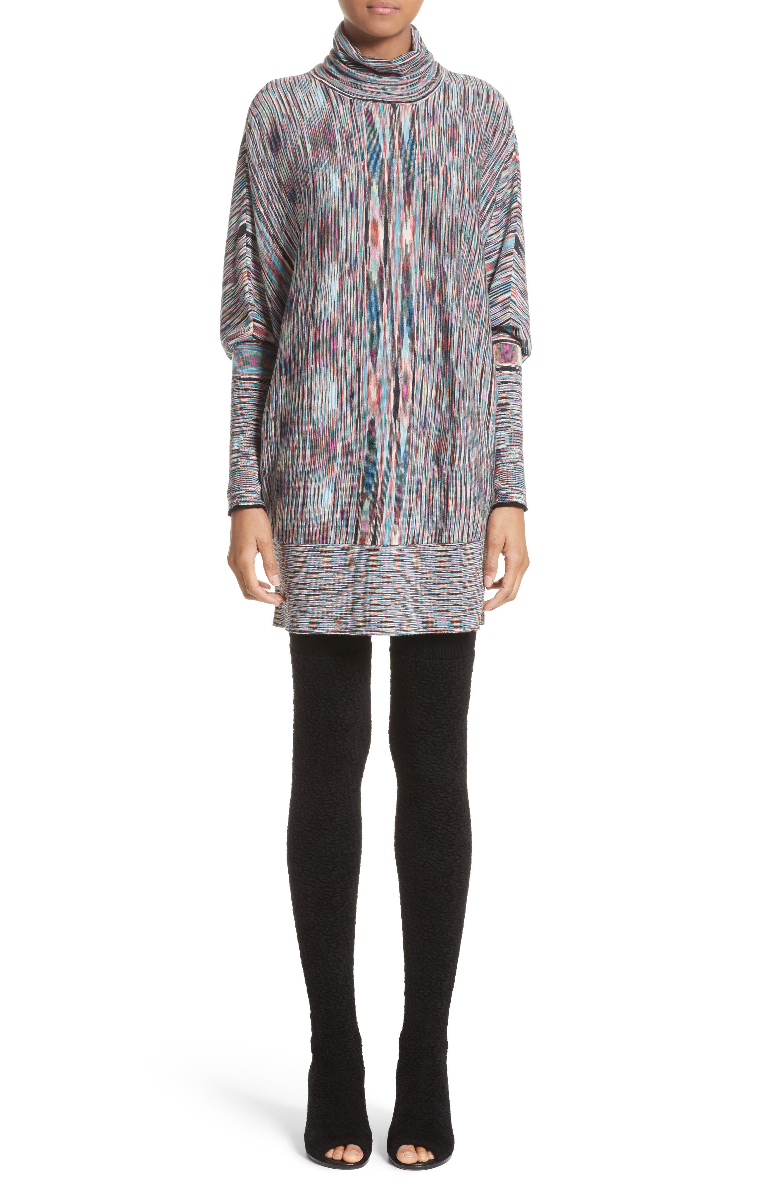 Space Dye Knit Dress,                         Main,                         color, 001