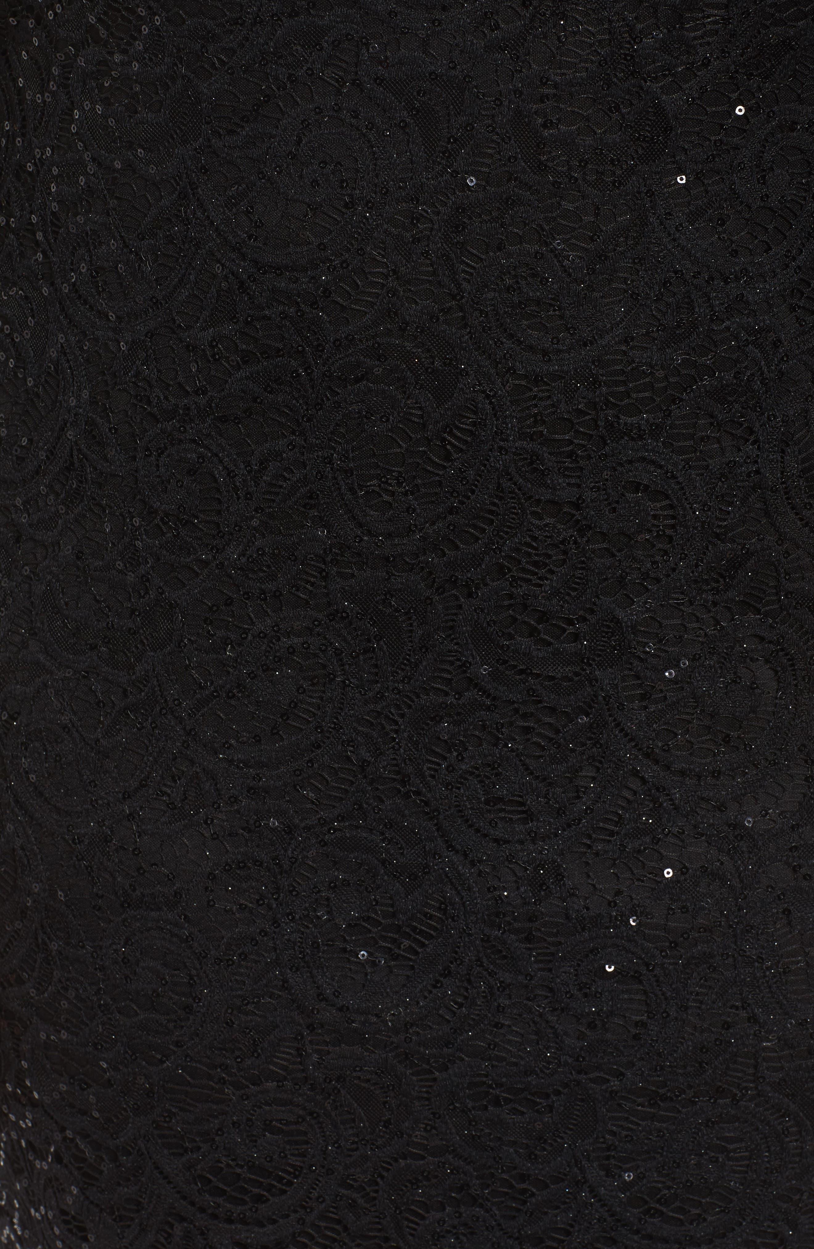 Sequin Keyhole Sheath Dress,                             Alternate thumbnail 5, color,                             001