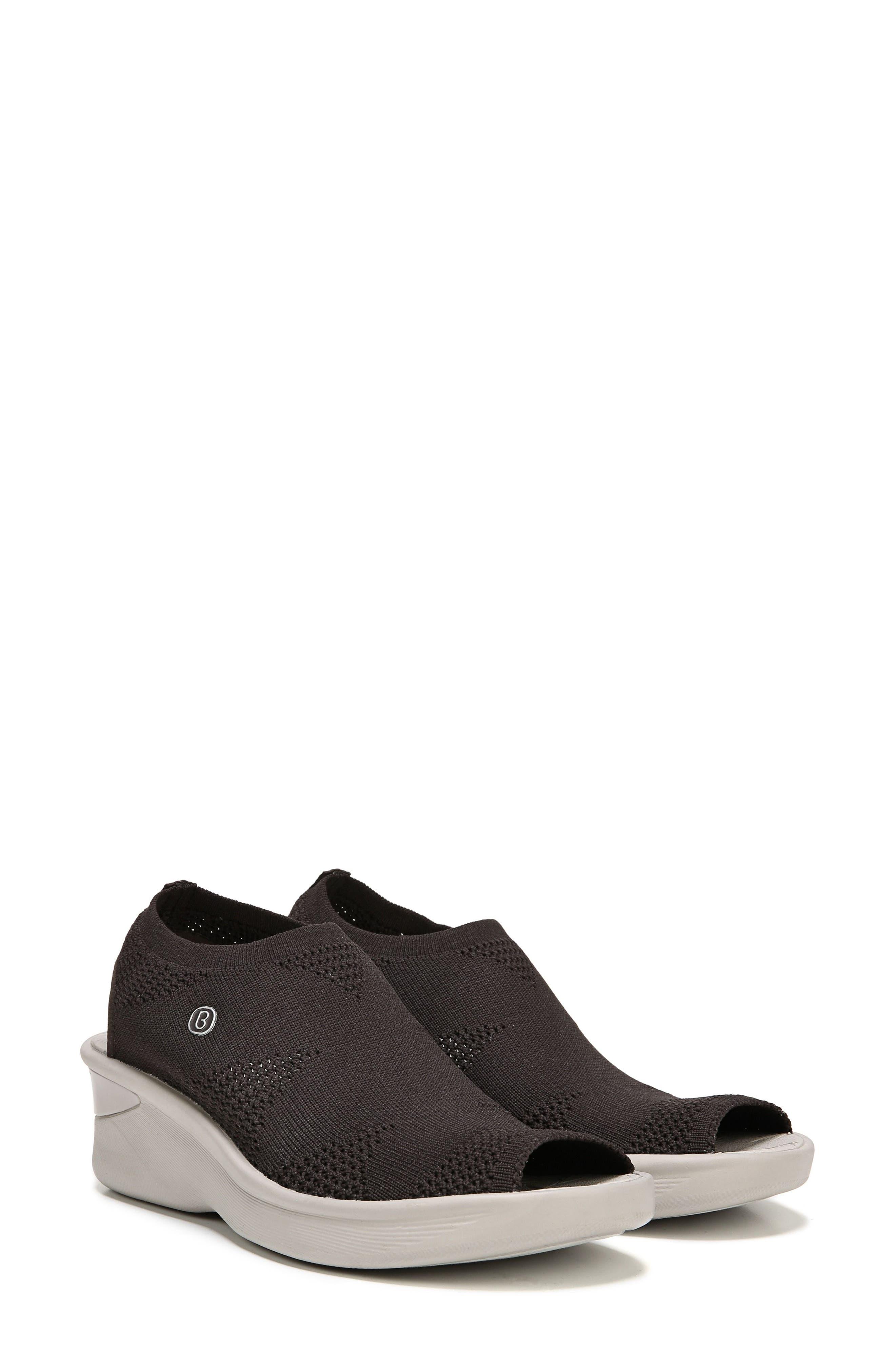 Secret Peep Toe Knit Sneaker,                             Alternate thumbnail 6, color,                             BROWN FABRIC