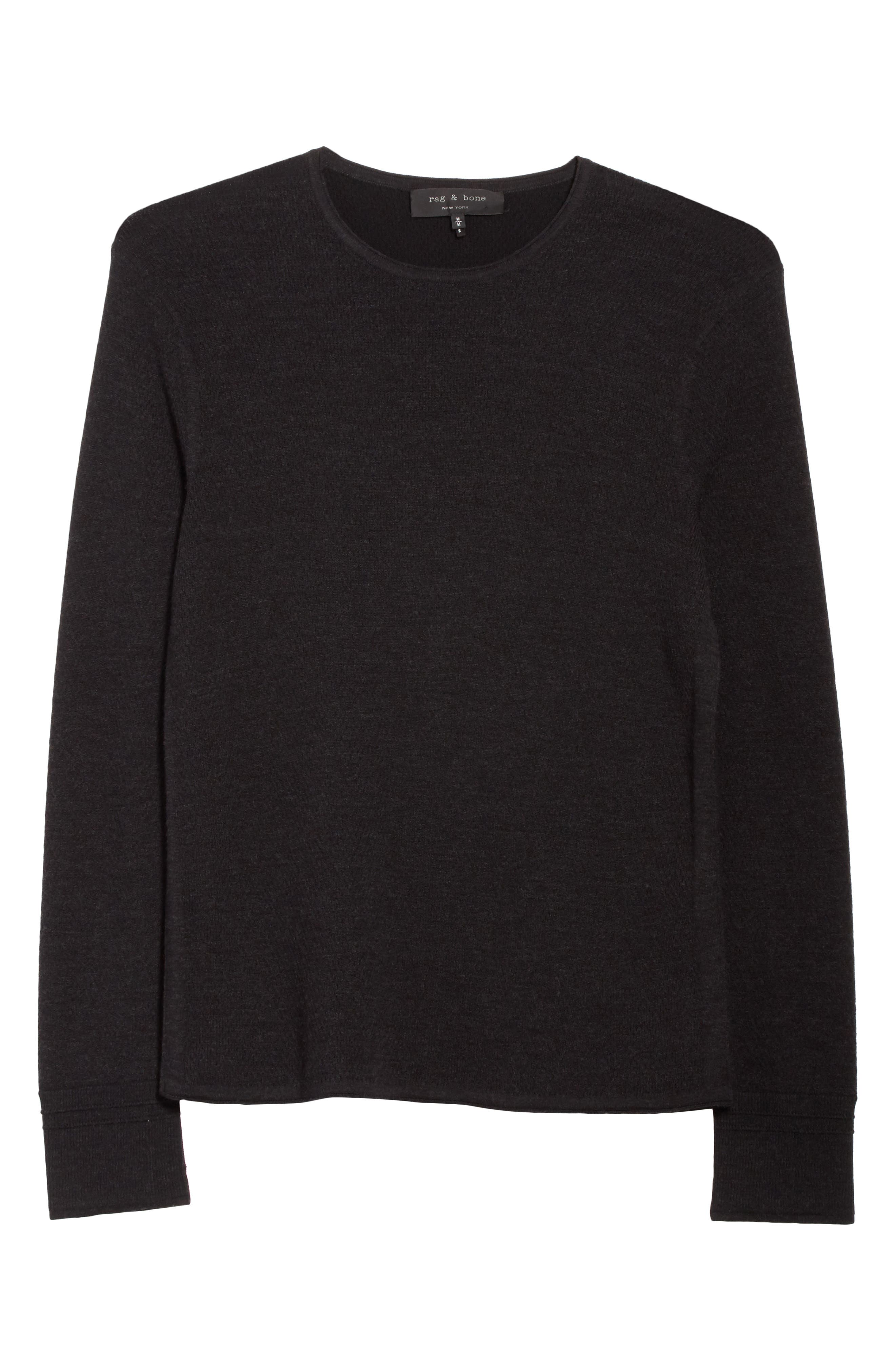 Gregory Crewneck Sweater,                             Alternate thumbnail 6, color,                             001