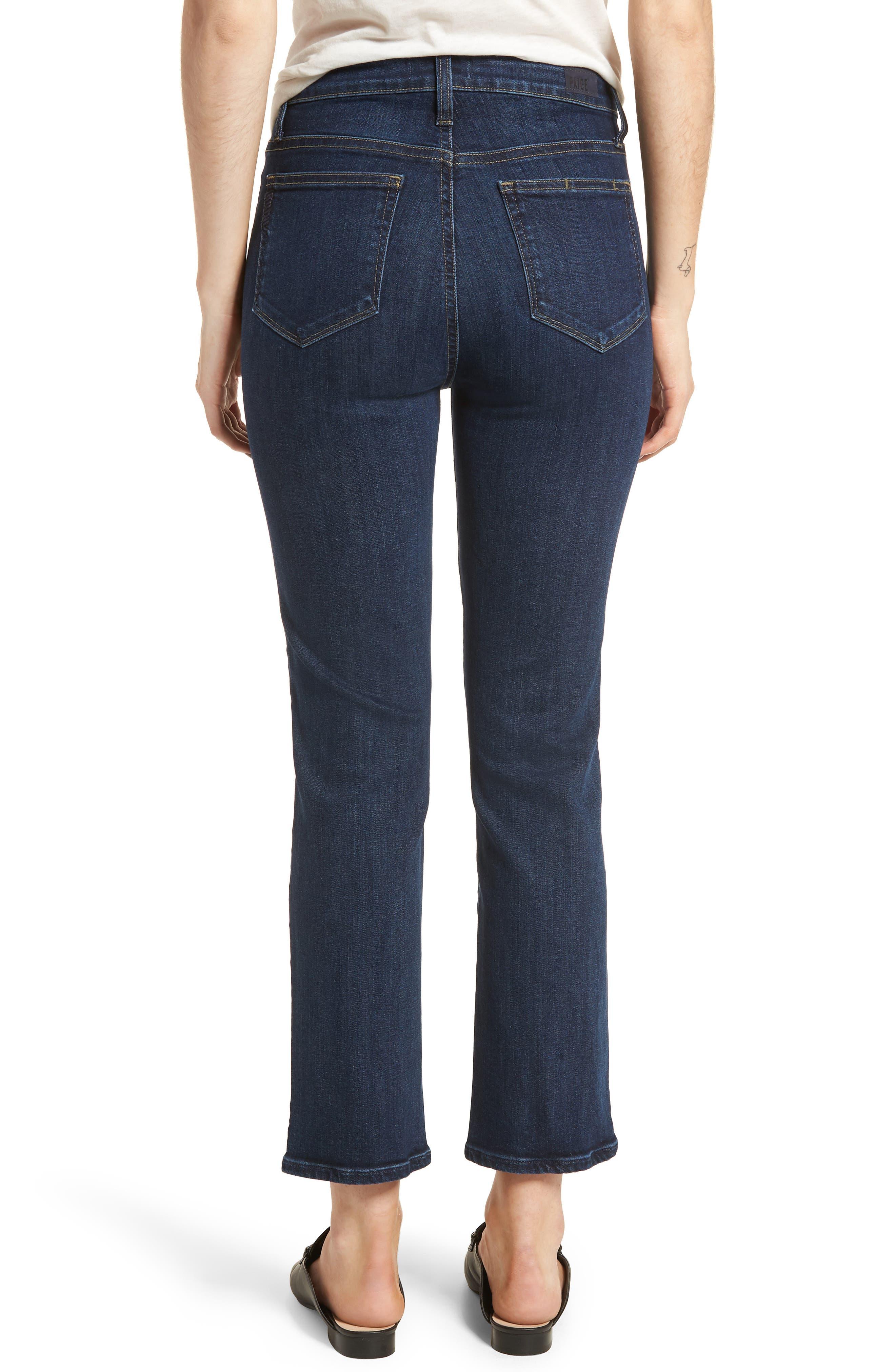Margot High Waist Ankle Straight Leg Jeans,                             Alternate thumbnail 2, color,