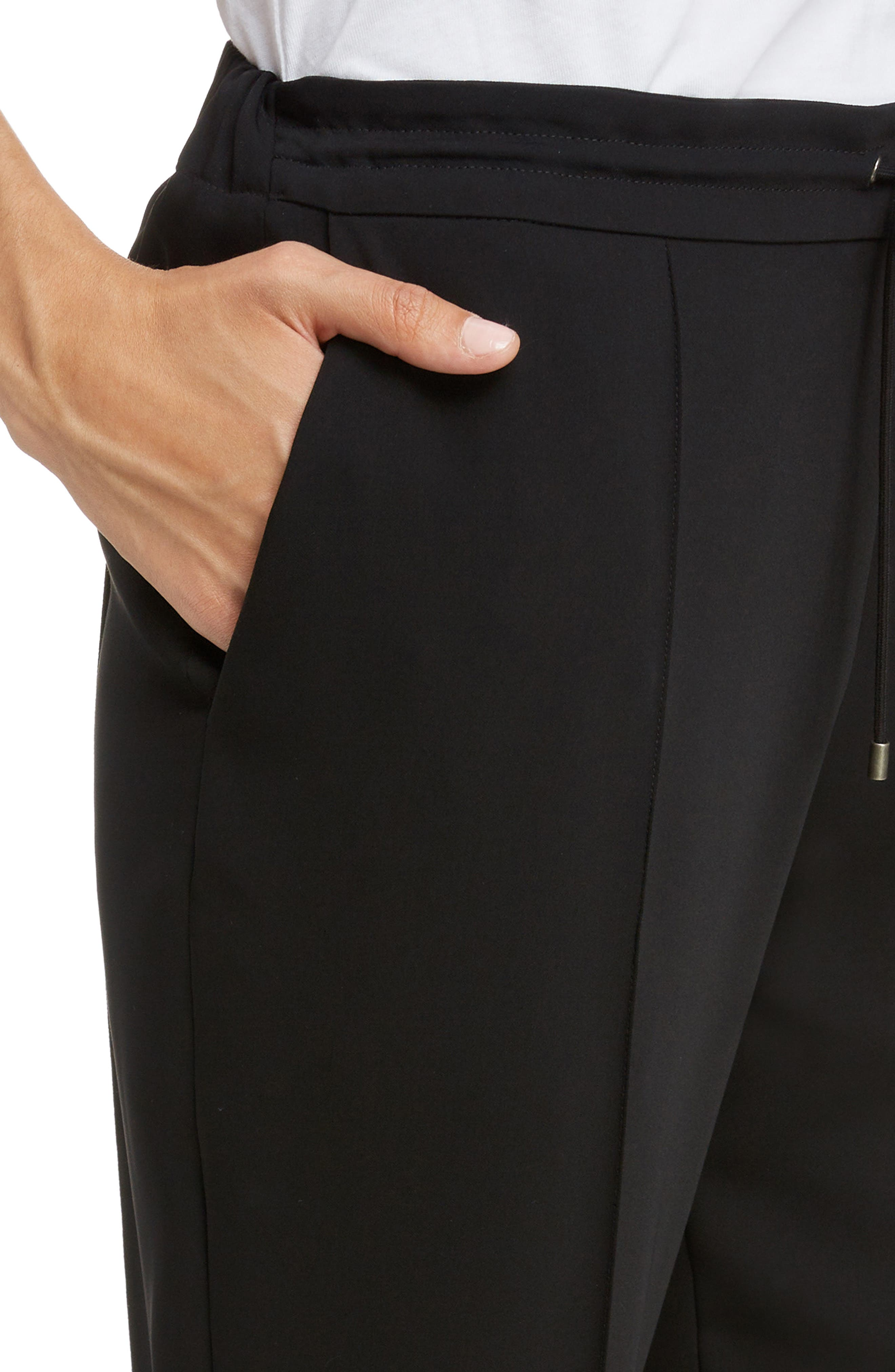Tailored Joggers,                             Alternate thumbnail 4, color,                             BLACK