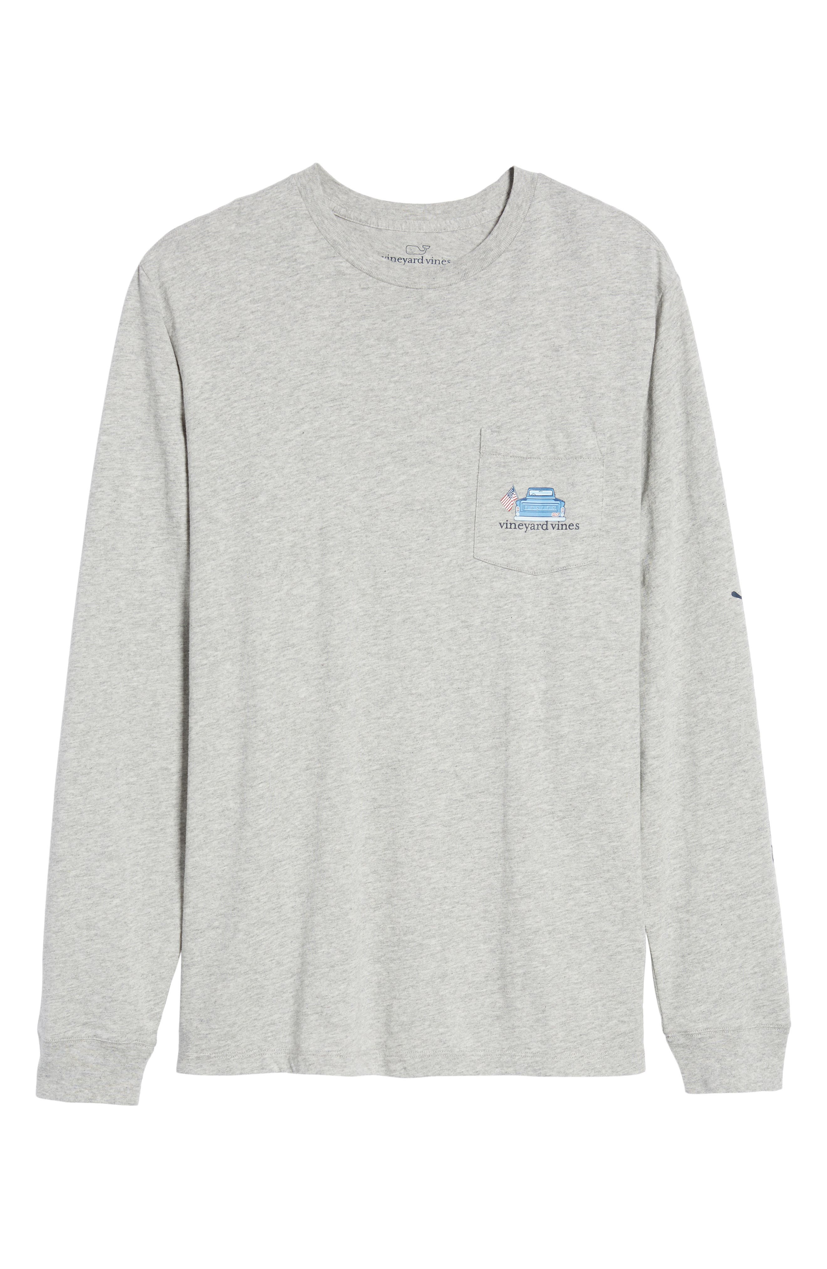 Americana Game Day Graphic Long Sleeve T-Shirt,                             Alternate thumbnail 6, color,                             039
