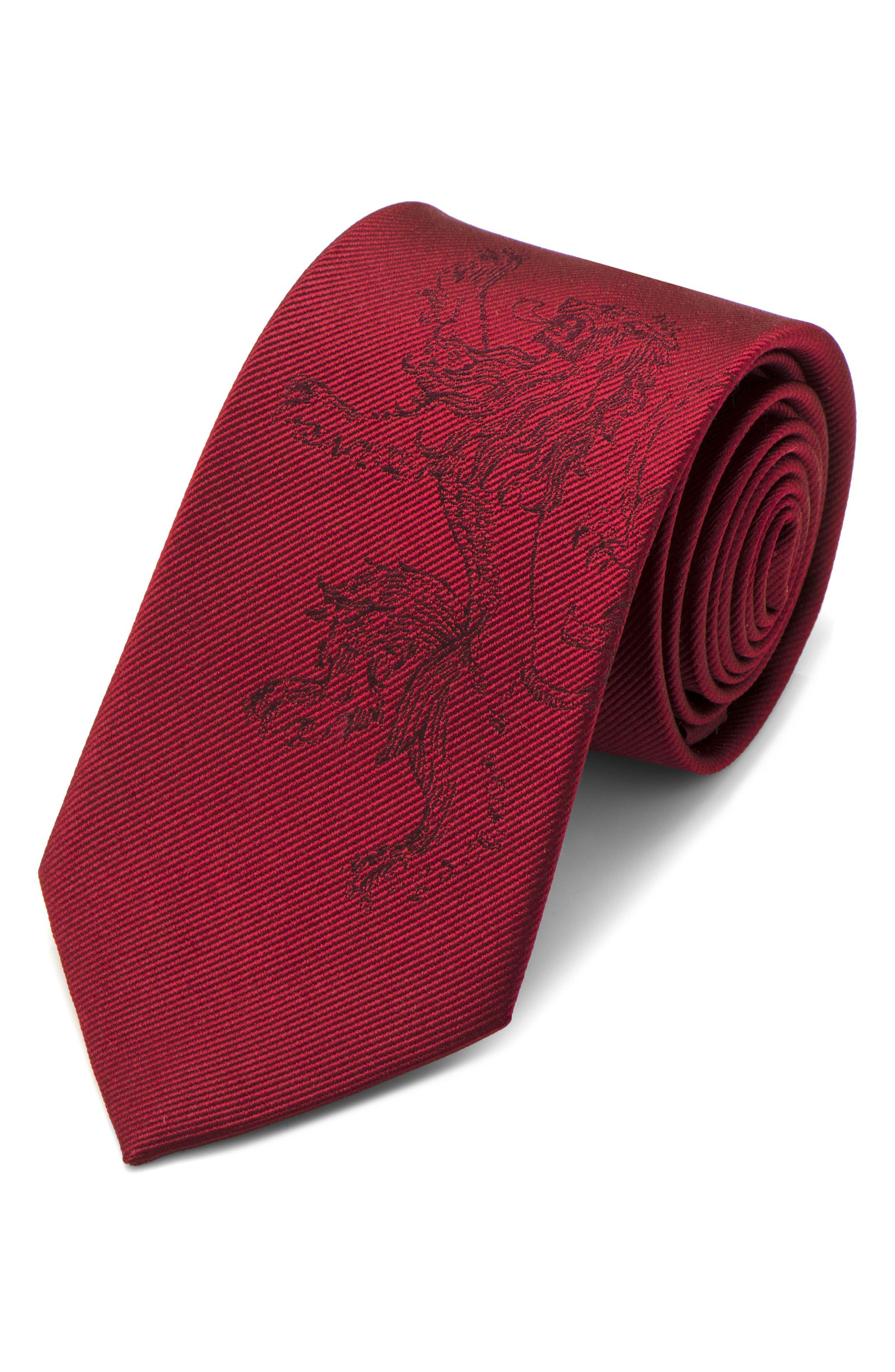 Game of Thrones Lannister Silk Tie,                             Main thumbnail 1, color,                             RED