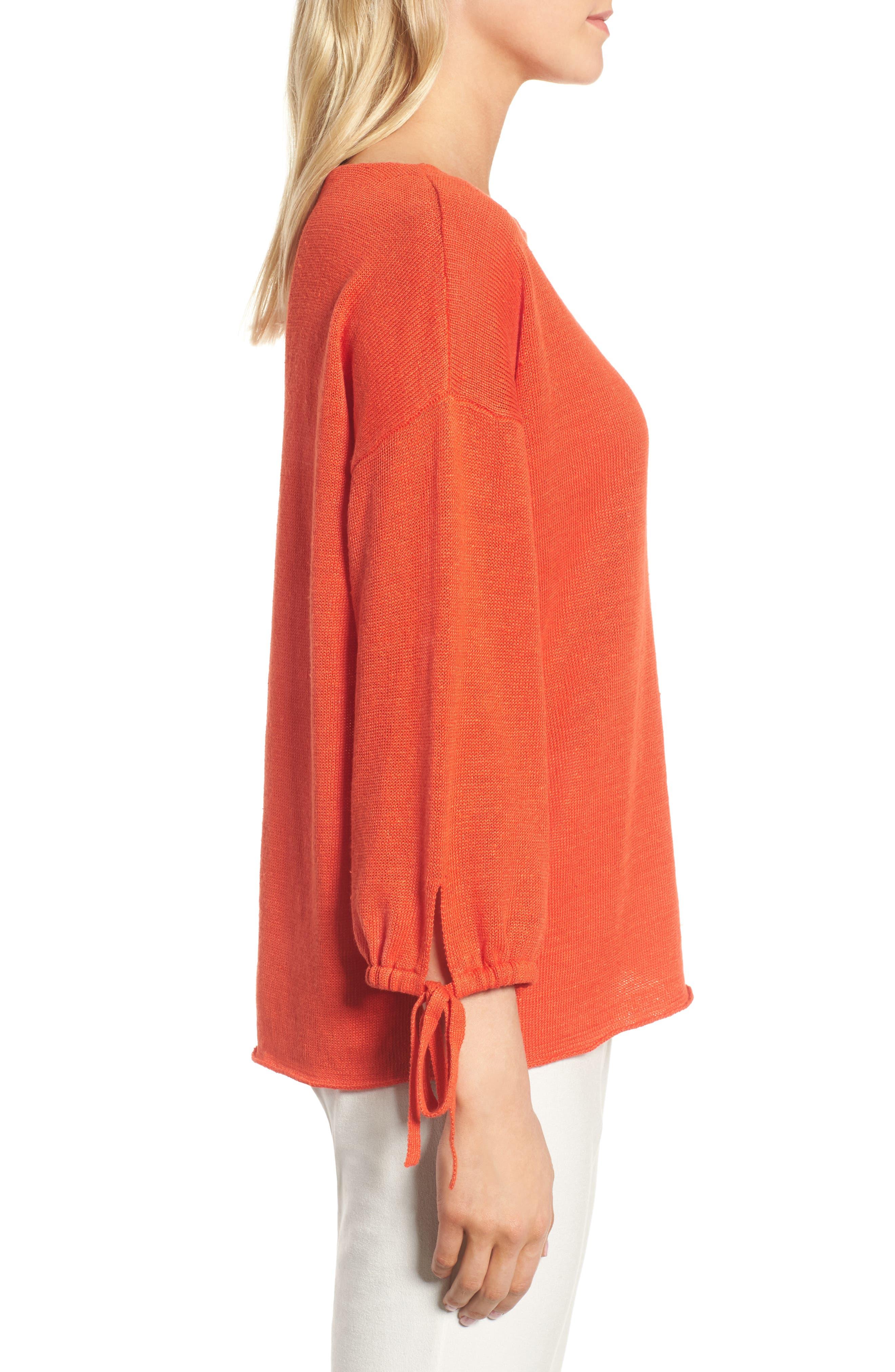 Organic Linen Sweater,                             Alternate thumbnail 12, color,