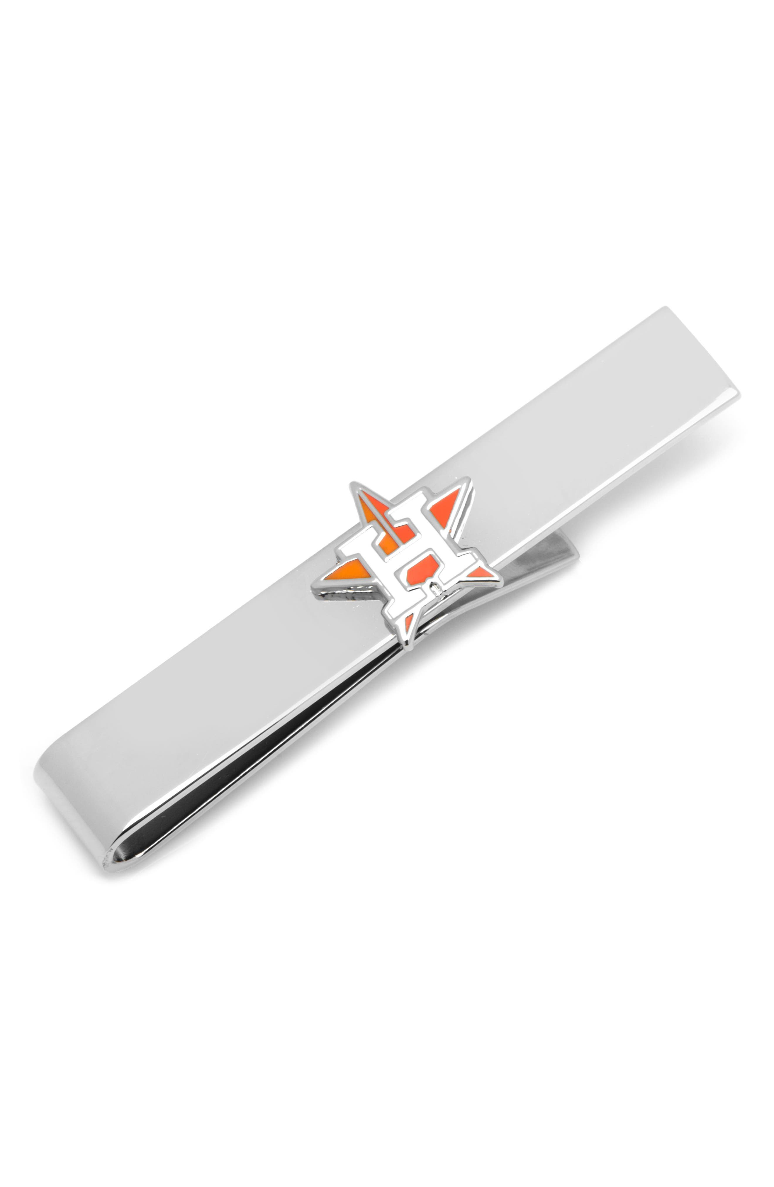 Houston Astros Tie Bar,                             Main thumbnail 1, color,                             MULTI/ SILVER
