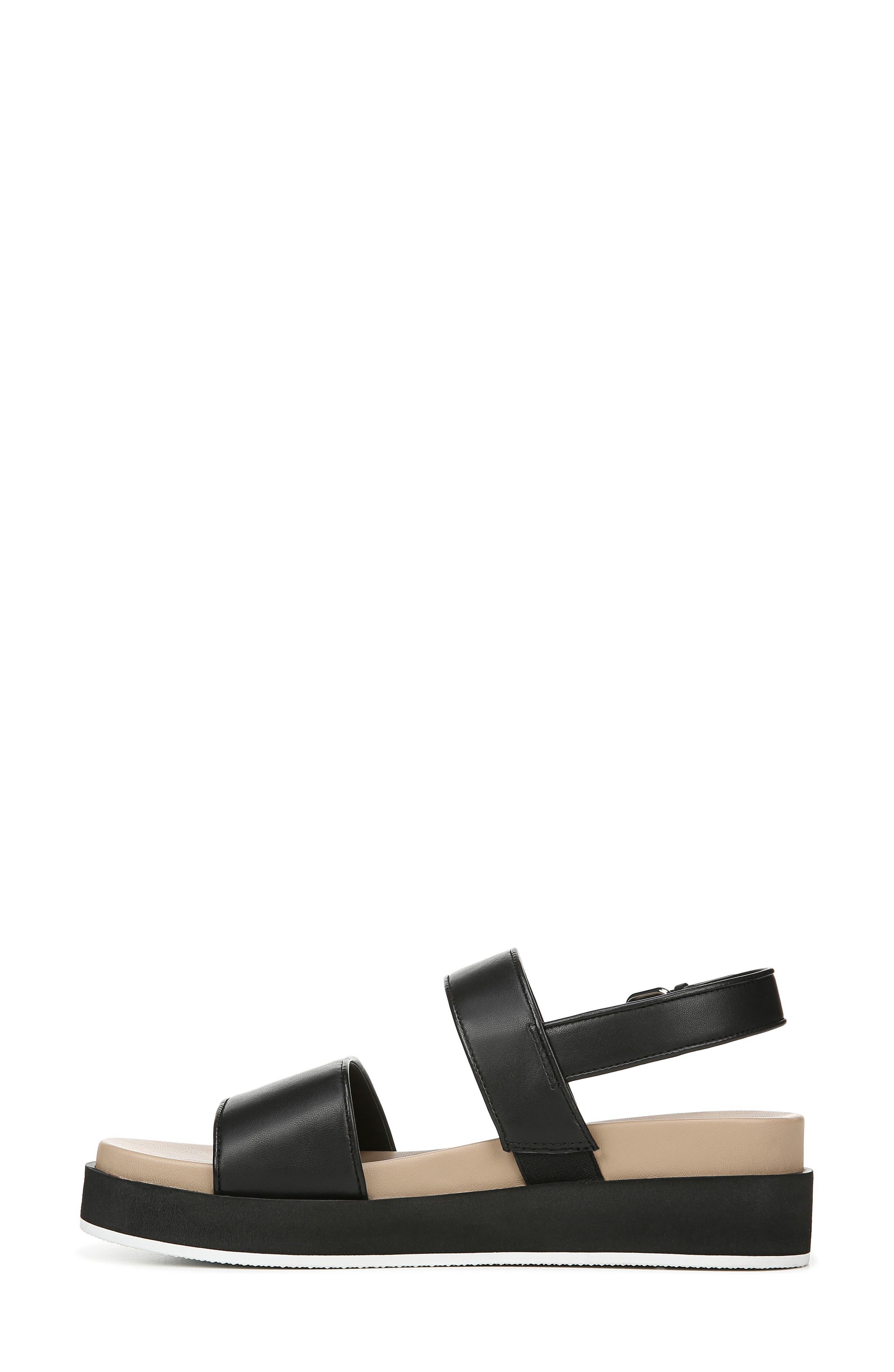 VIA SPIGA,                             Davi Platform Sandal,                             Alternate thumbnail 8, color,                             BLACK
