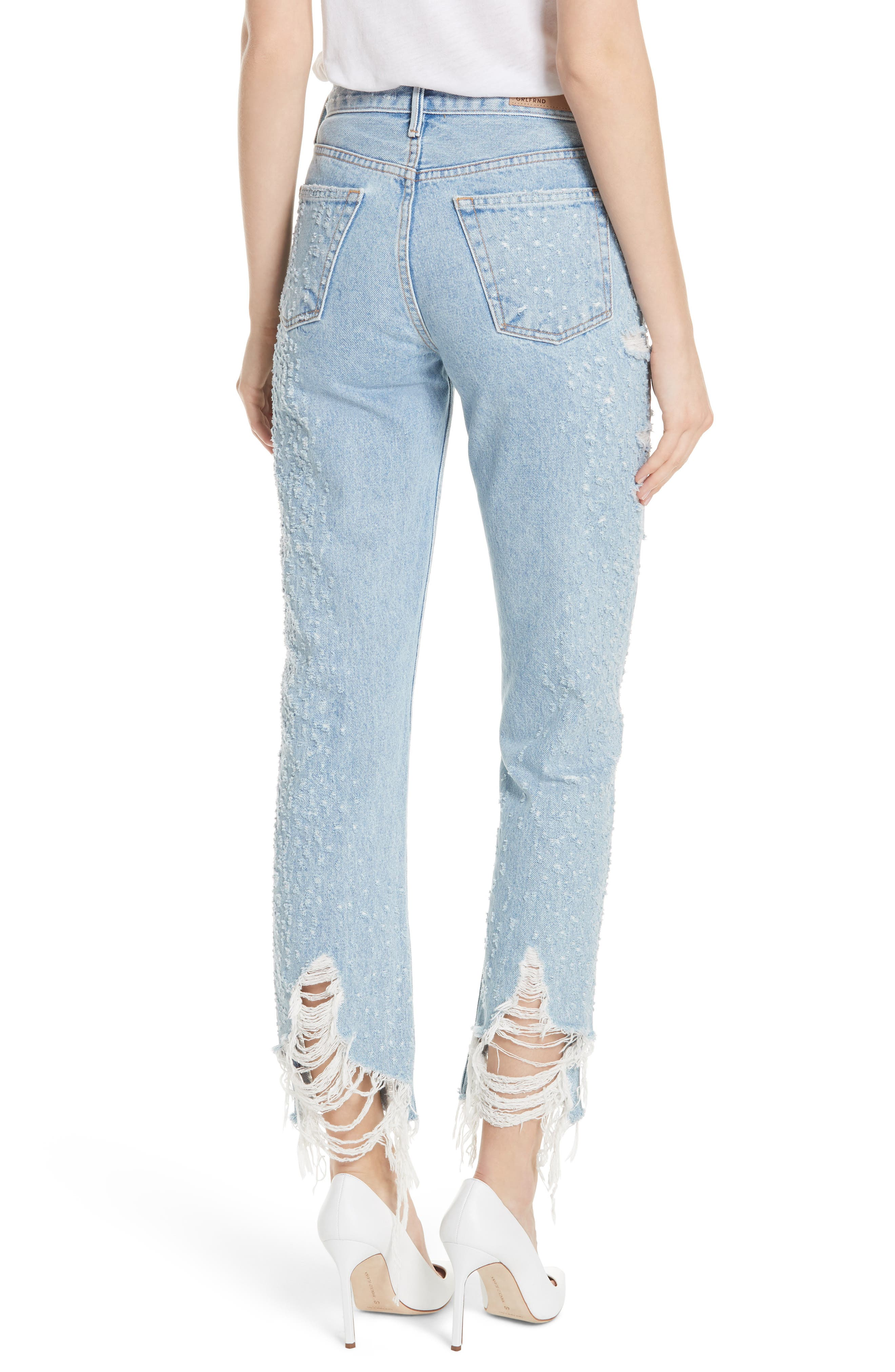 Helena Rigid High Waist Straight Jeans,                             Alternate thumbnail 2, color,                             BURN OUT